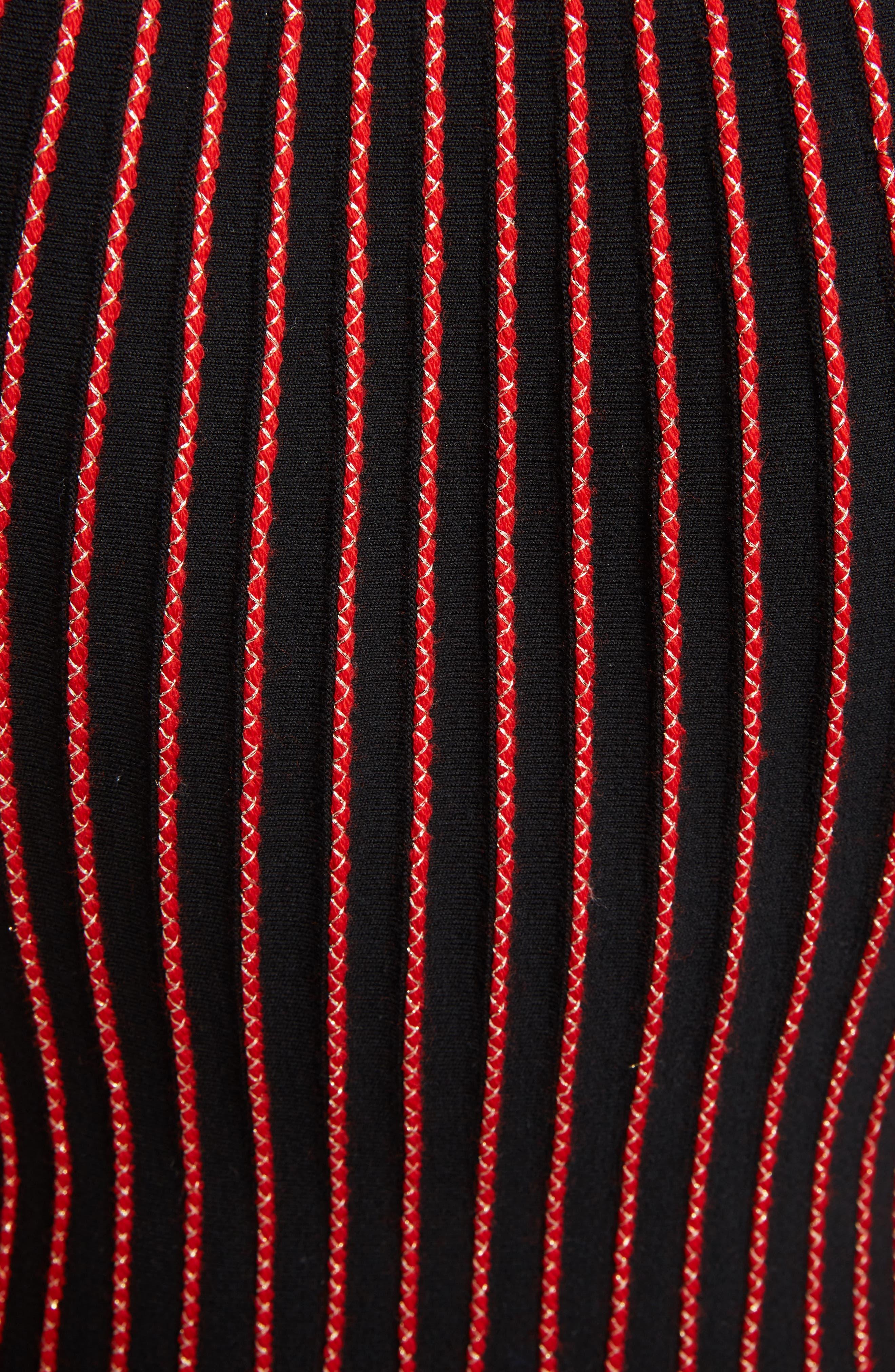 Metallic Wool Blend Pleat Dress,                             Alternate thumbnail 5, color,                             002
