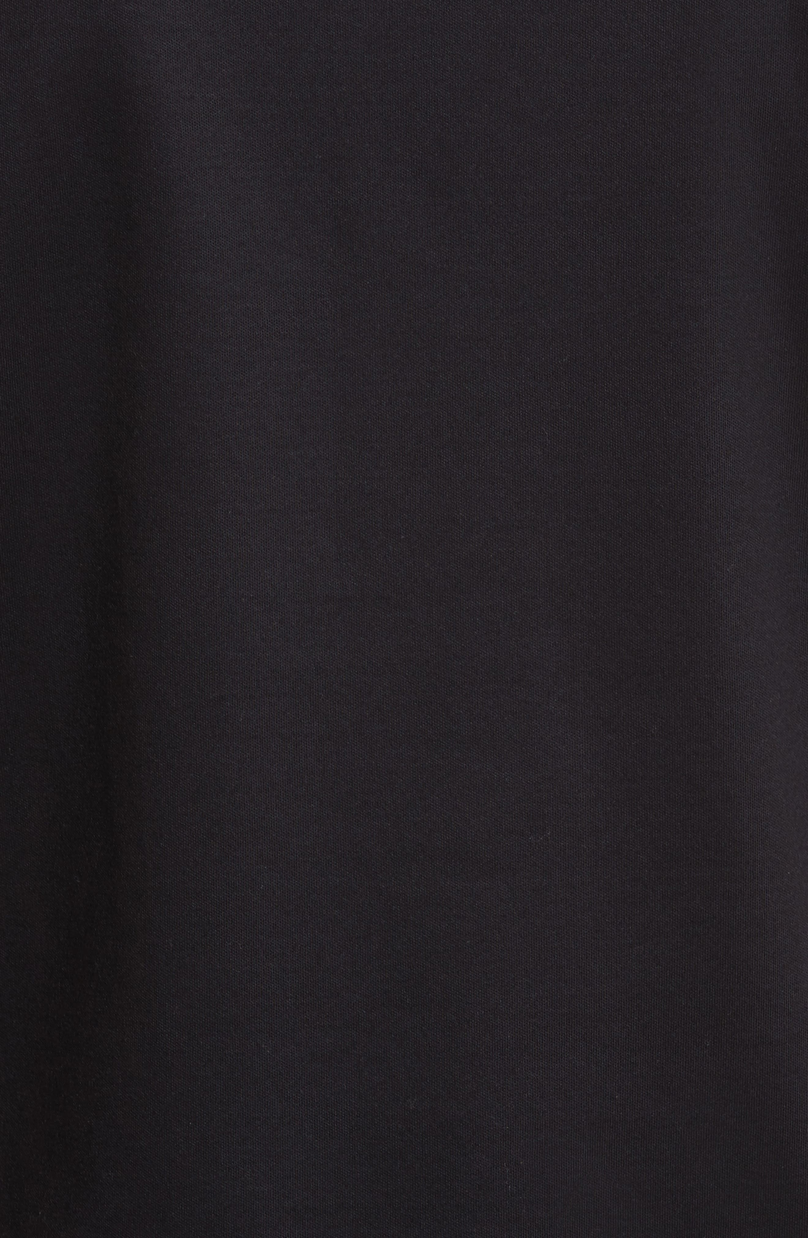 Tie Sleeve Cotton Tee,                             Alternate thumbnail 5, color,                             001