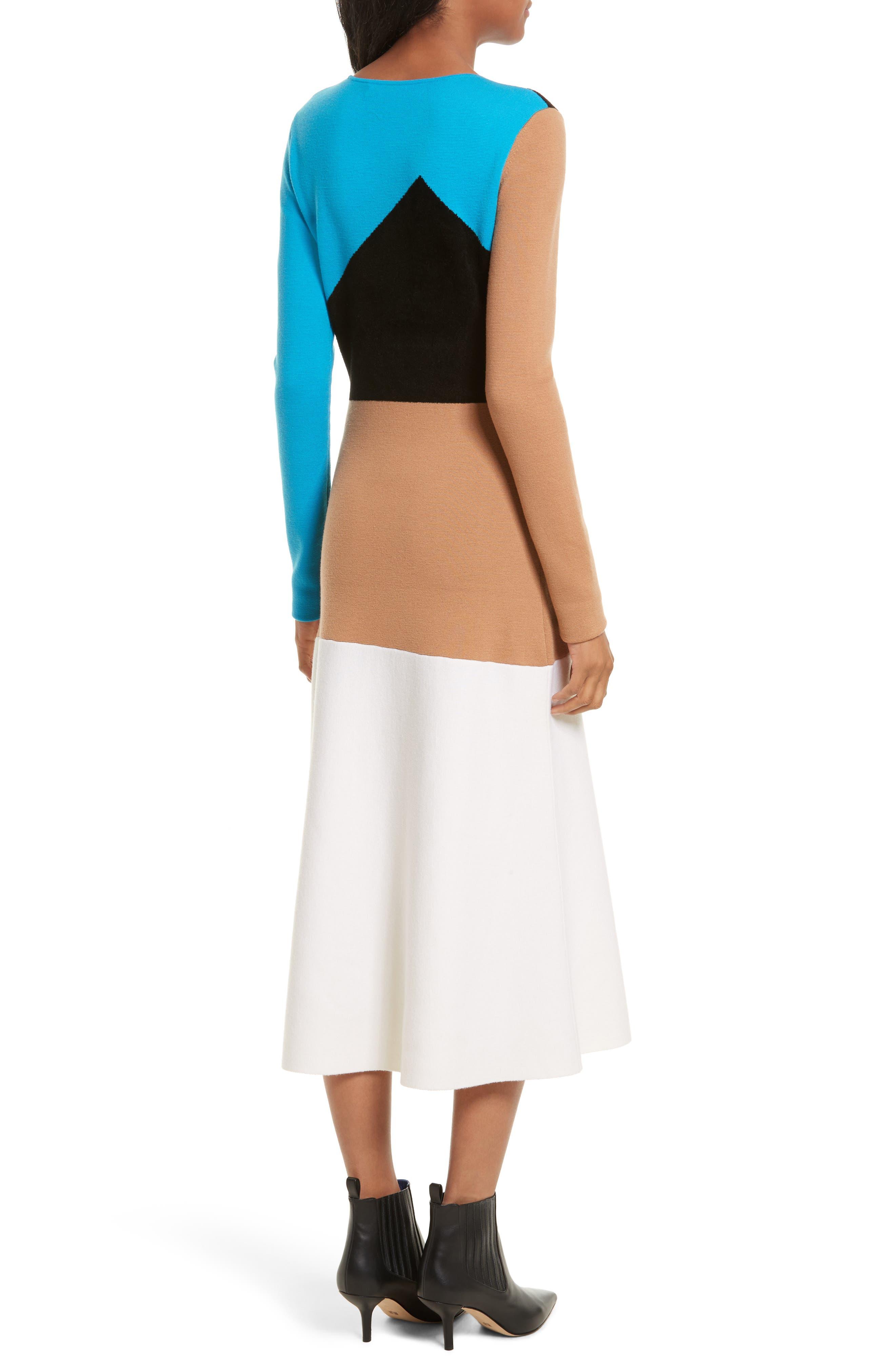 Crewneck Flare Knit Dress,                             Alternate thumbnail 2, color,                             252