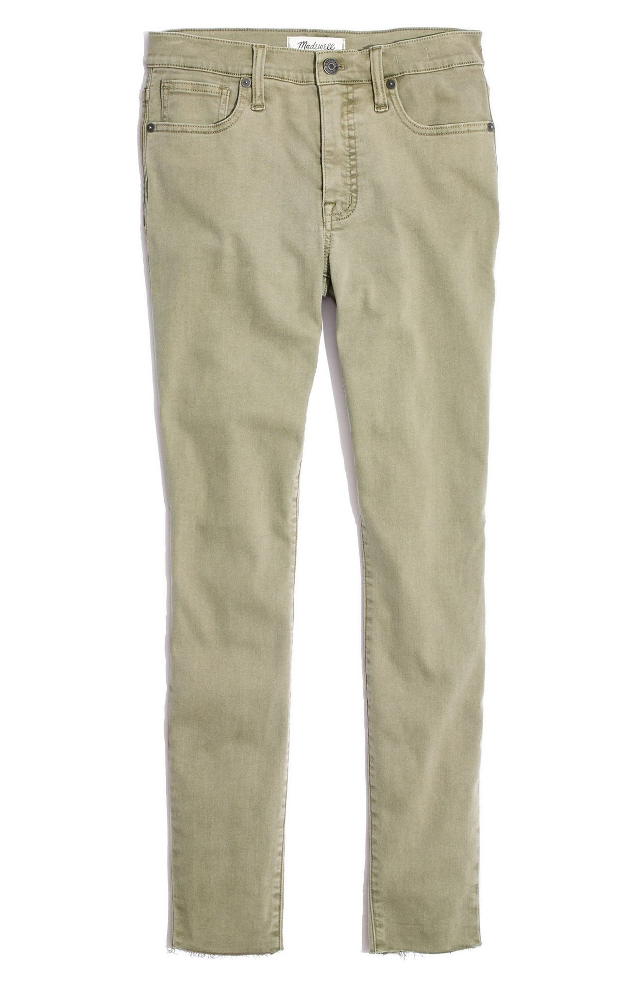 9-Inch High-Rise Skinny Jeans: Raw-Hem Garment-Dyed Edition,                             Alternate thumbnail 8, color,