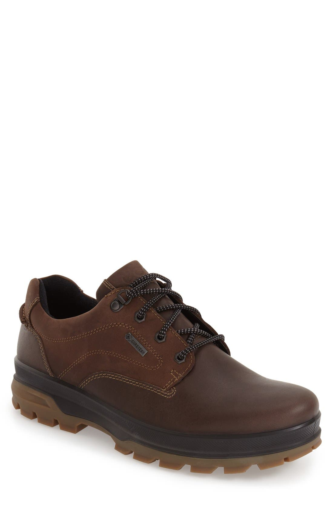 'Rugged Track GTX' Oxford,                         Main,                         color, DARK CLAY/ COFFEE LEATHER
