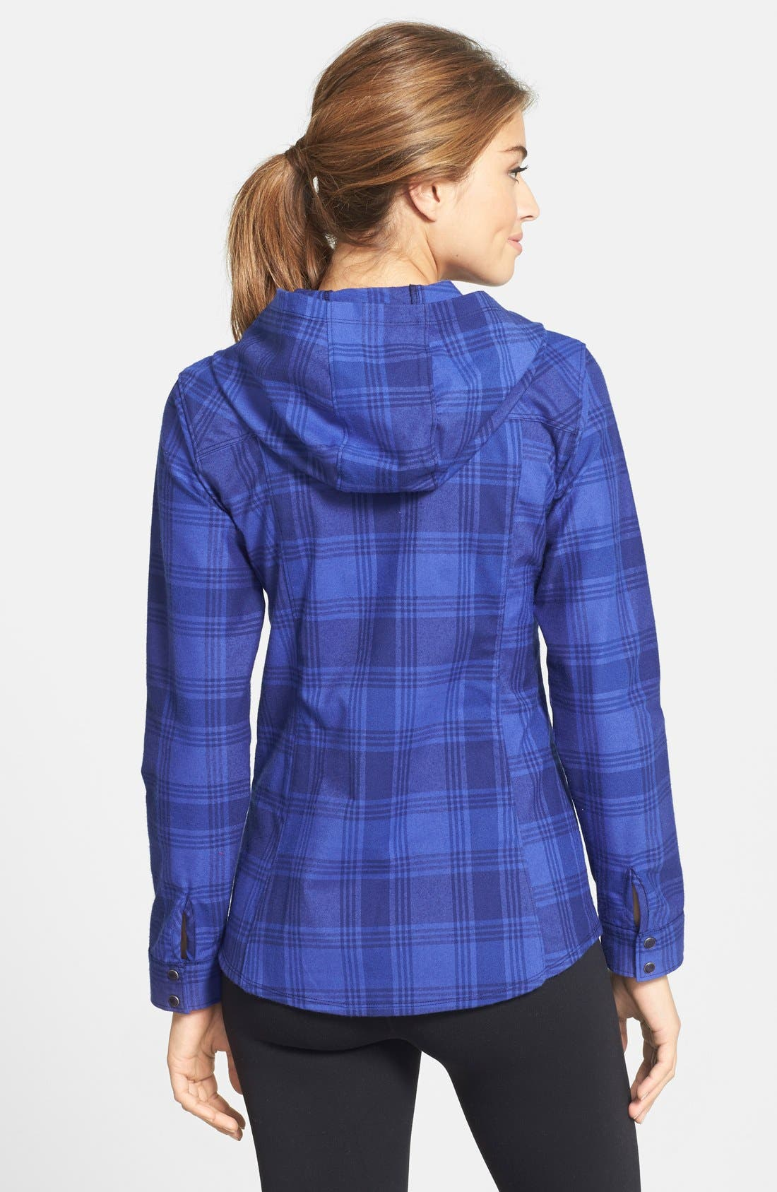 MOUNTAIN HARDWEAR,                             'Stretchstone Flannel<sup>™</sup>' Hooded Shirt,                             Alternate thumbnail 2, color,                             401