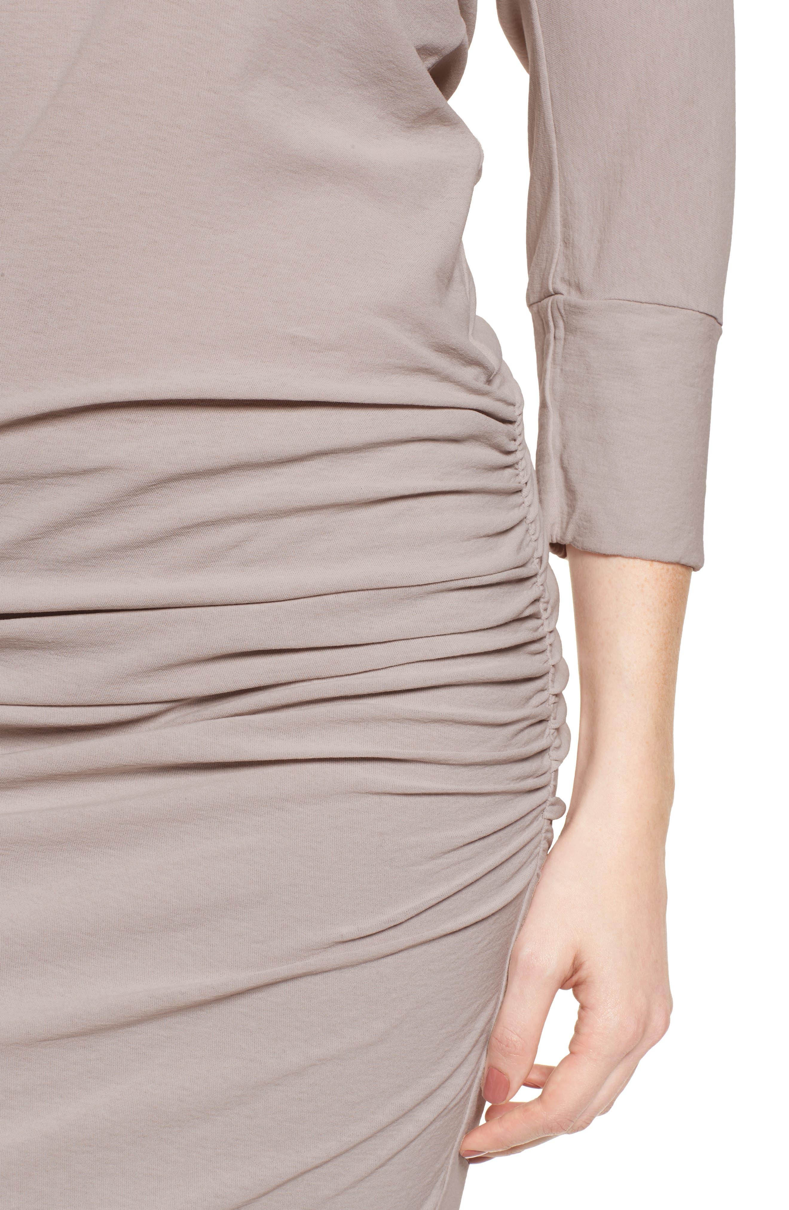Shirred Cotton Dress,                             Alternate thumbnail 4, color,                             085