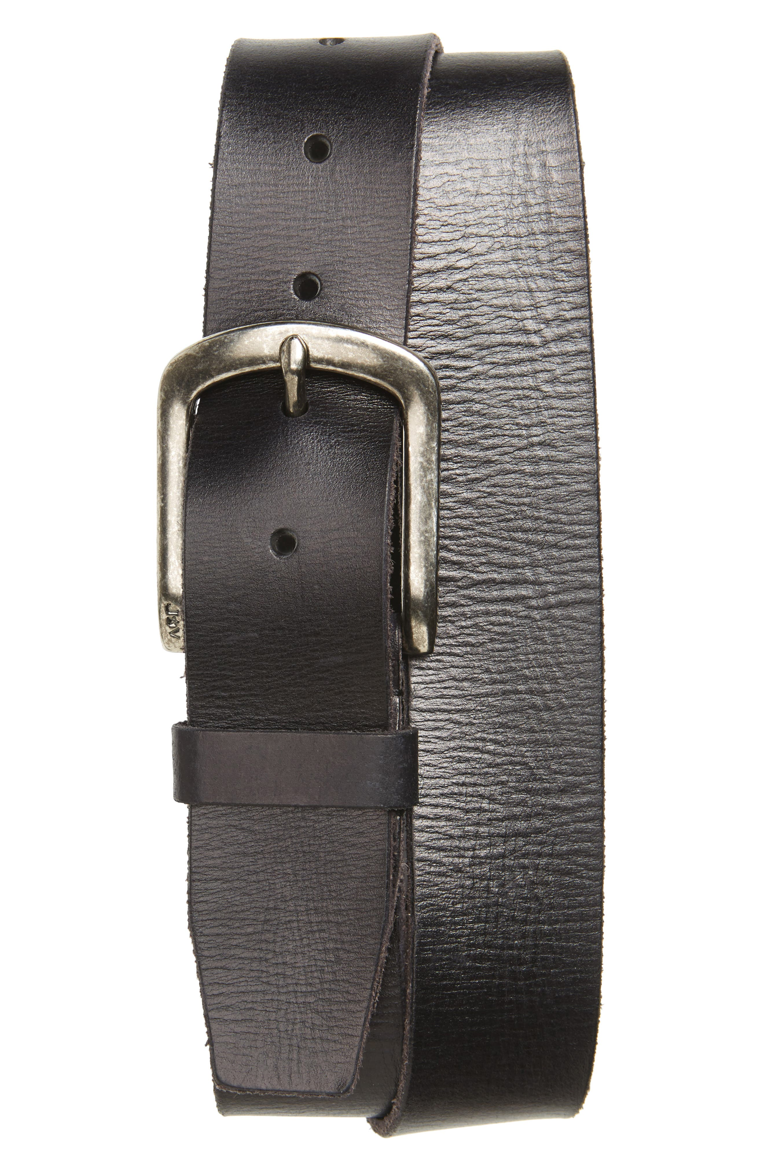 Classic Leather Belt,                         Main,                         color, BLACK