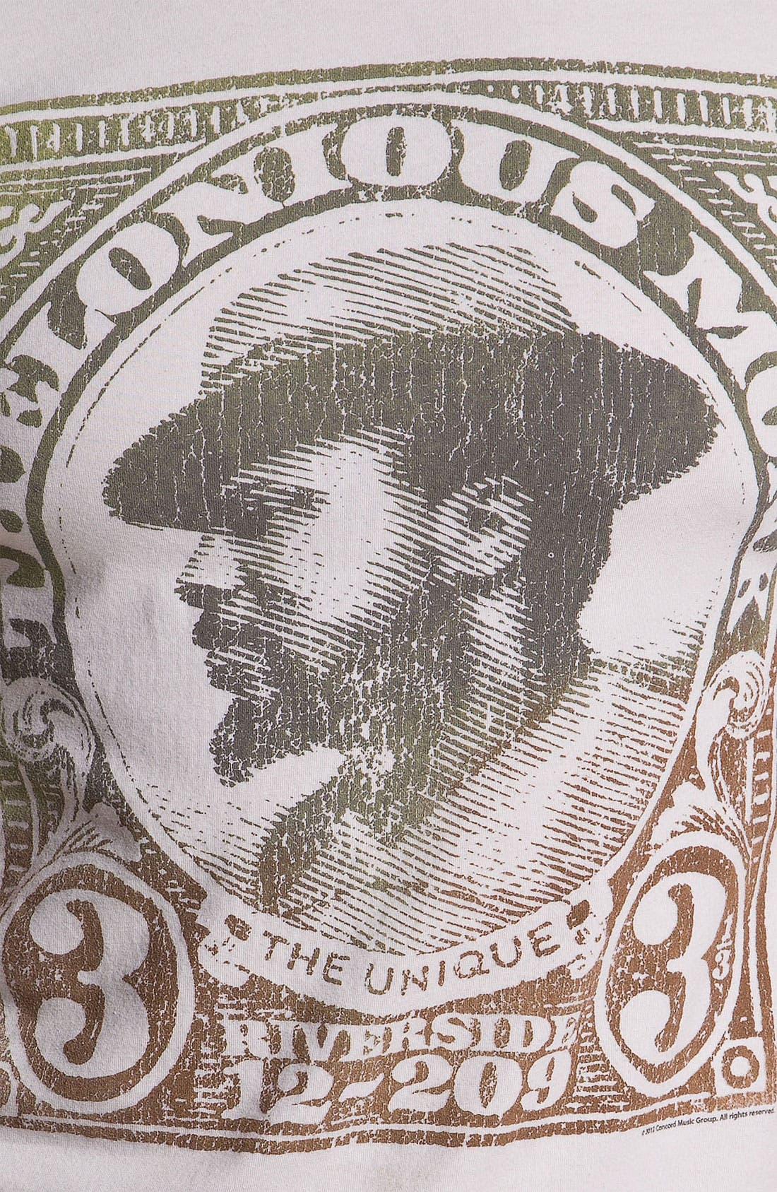 'The Unique Thelonius Monk' Crewneck T-Shirt,                             Alternate thumbnail 2, color,                             050