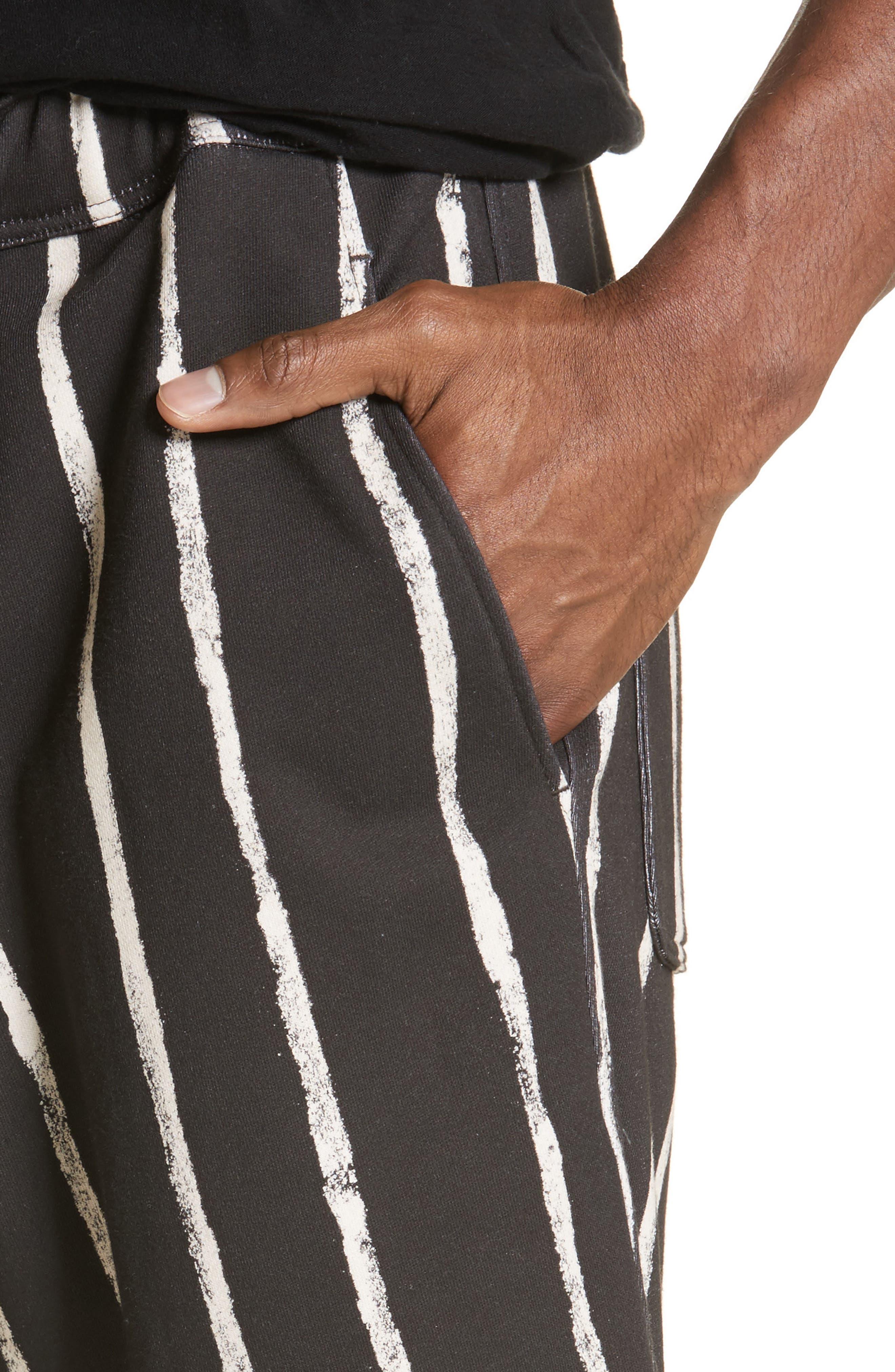 Striped Paint Shorts,                             Alternate thumbnail 4, color,                             001