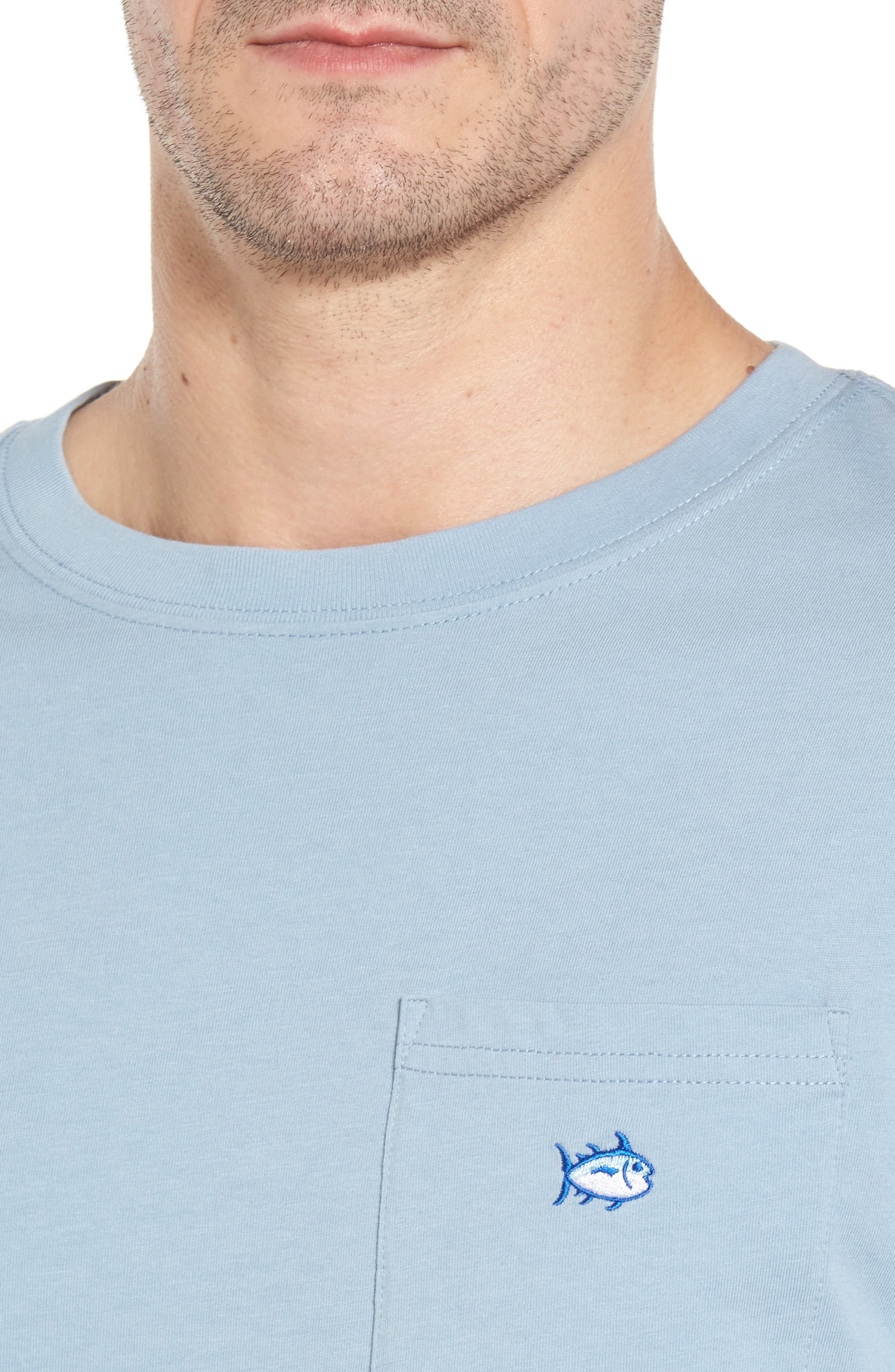Embroidered Long Sleeve T-Shirt,                             Alternate thumbnail 4, color,                             448