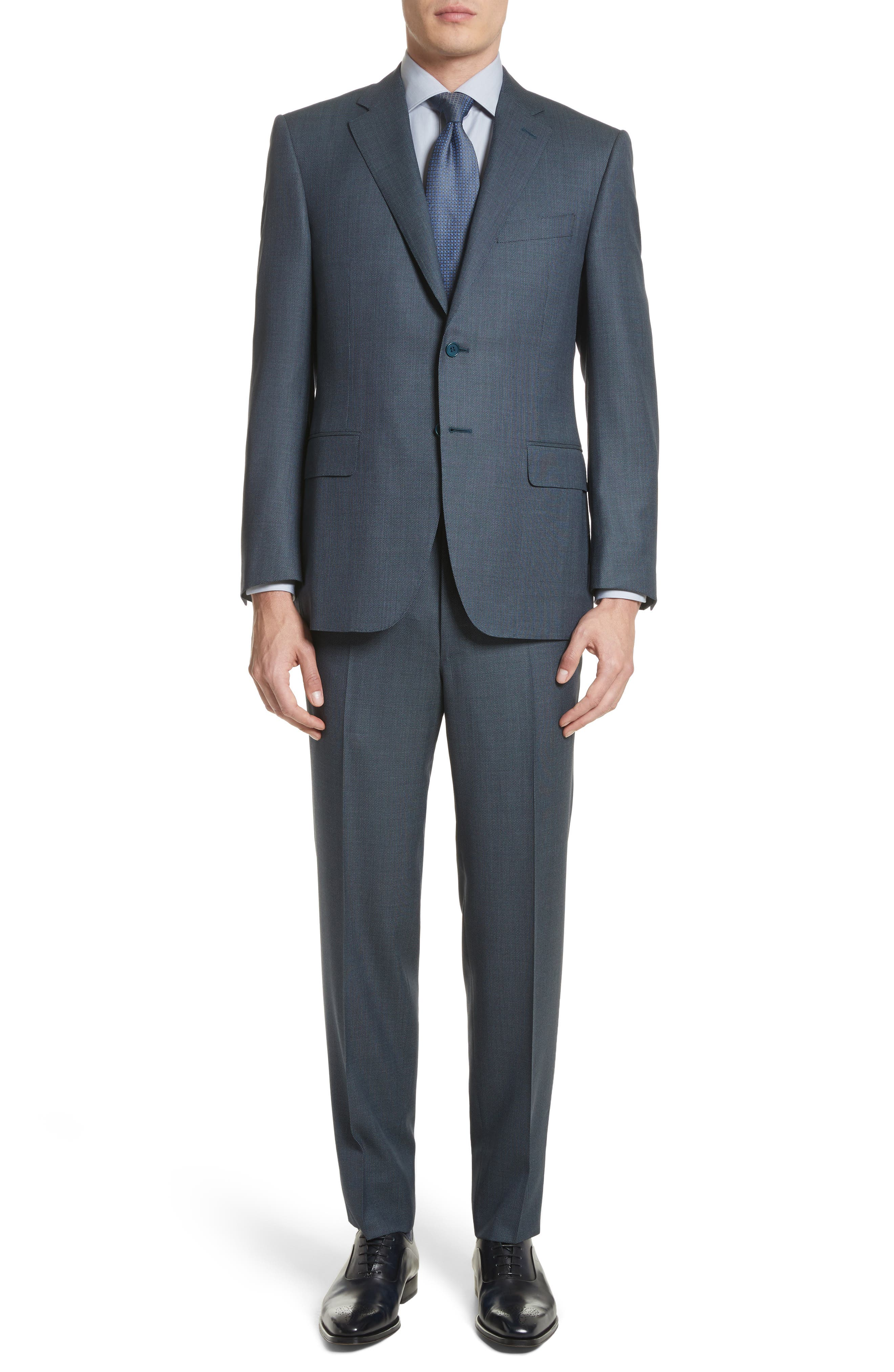 Classic Fit Solid Wool Suit,                         Main,                         color, 420