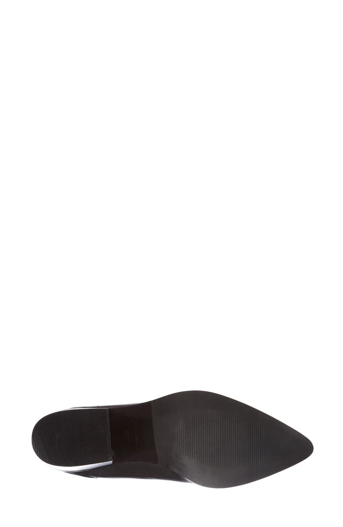 TOPSHOP,                             'Midnight' Pointy Toe Boot,                             Alternate thumbnail 2, color,                             001