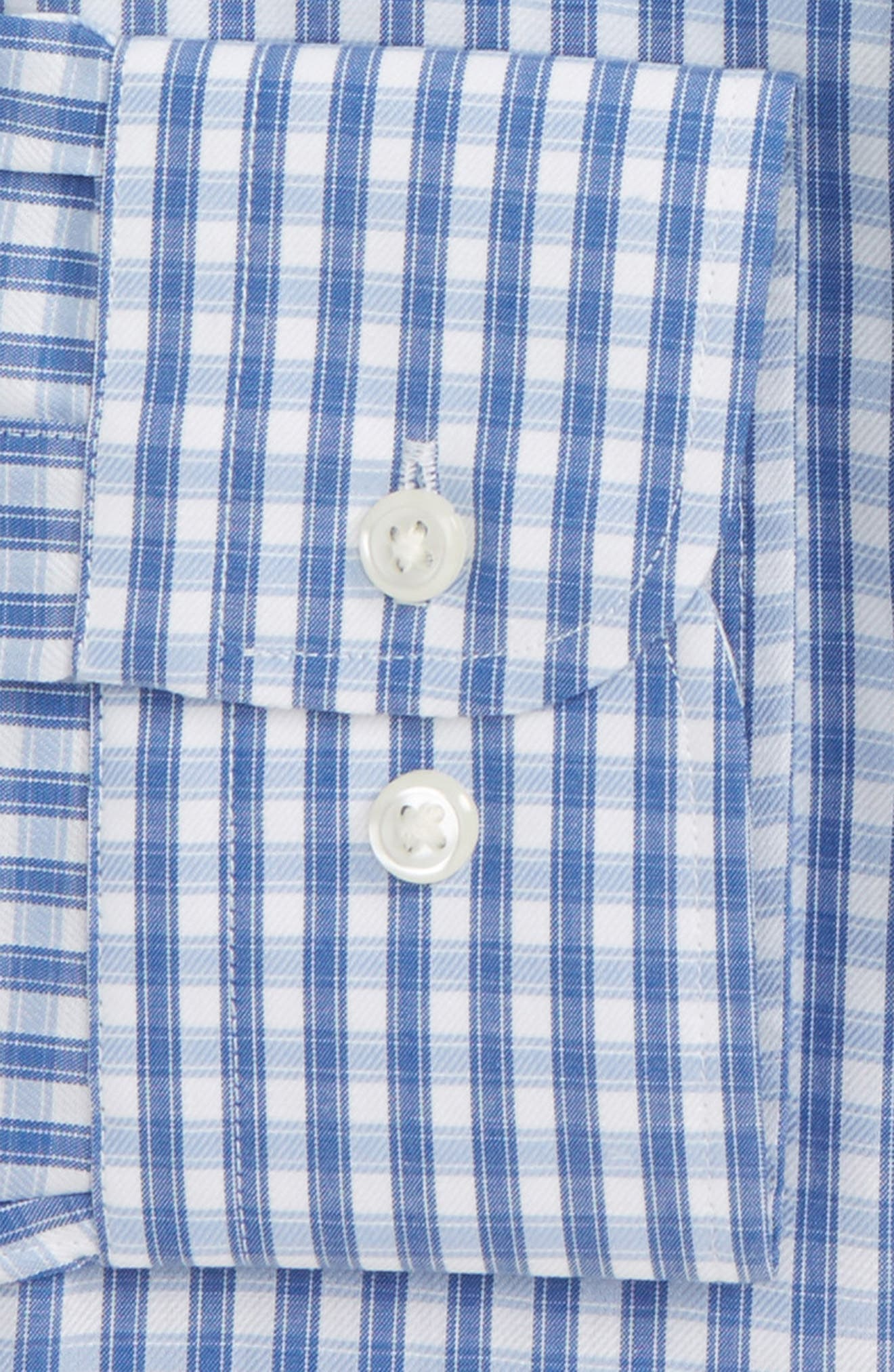 Trim Fit Non-Iron Check Dress Shirt,                             Alternate thumbnail 16, color,