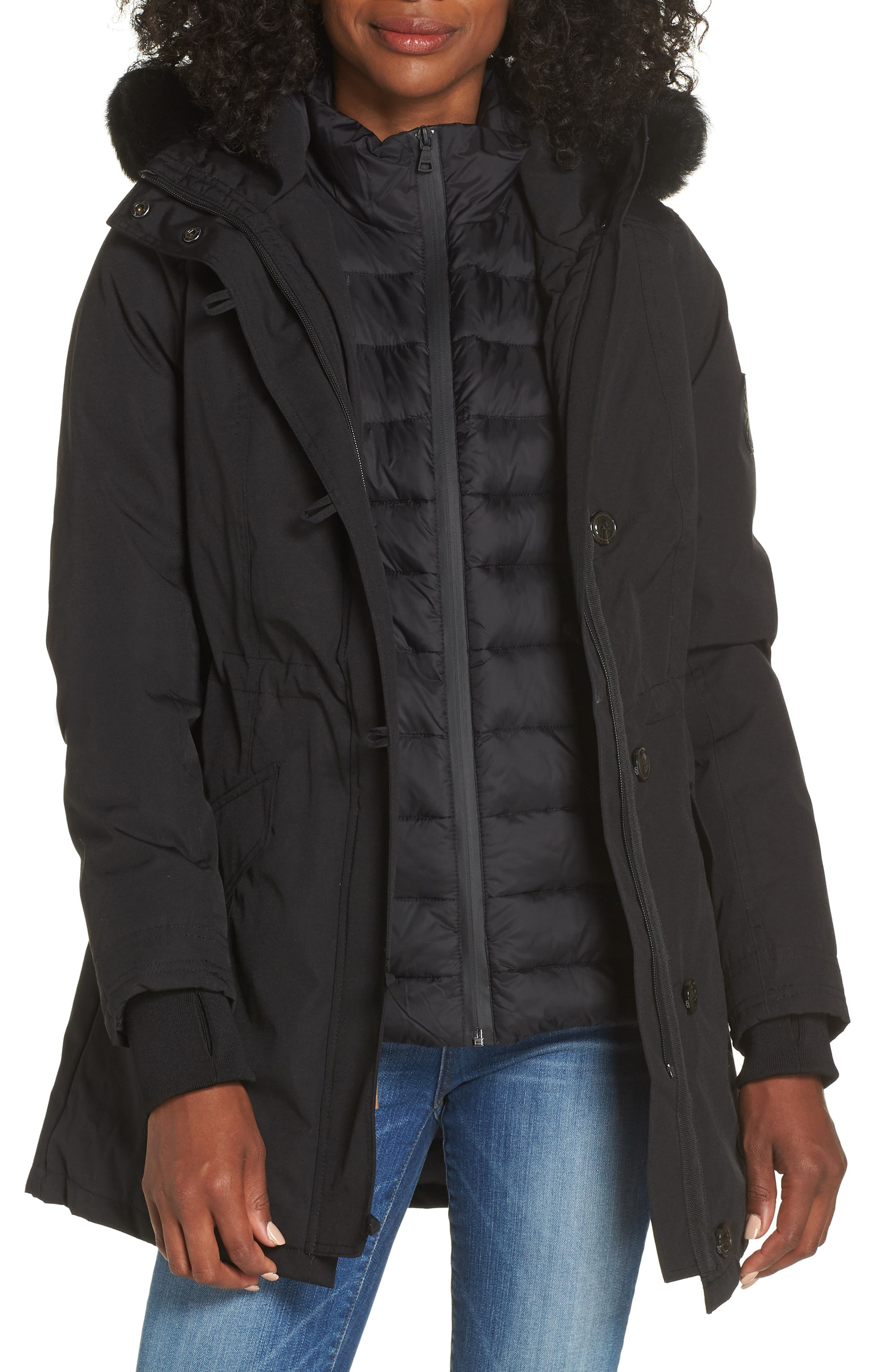 Adirondack Down Parka,                         Main,                         color, BLACK