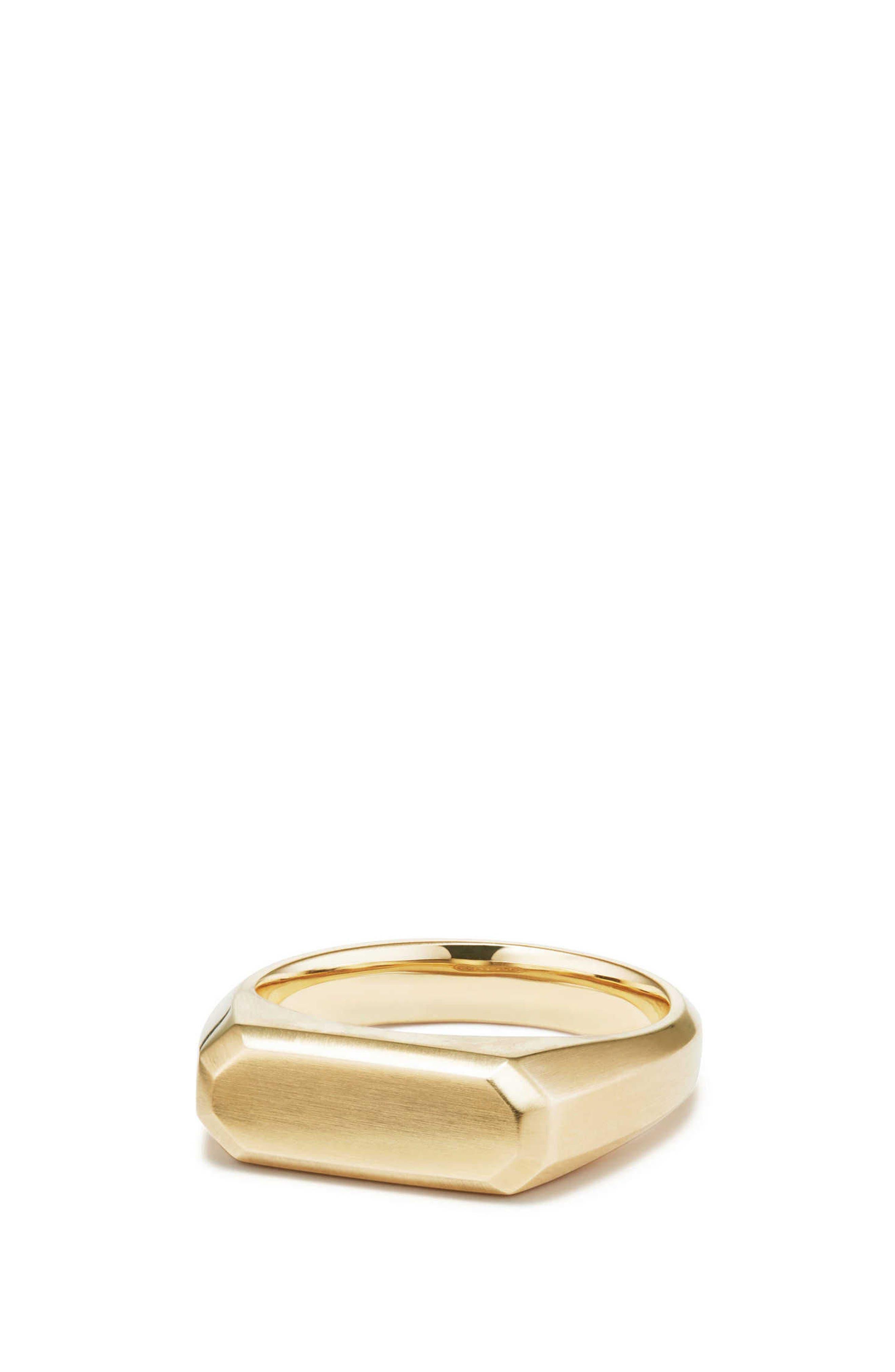 Streamline Signet Ring in 18K Gold,                             Main thumbnail 1, color,                             GOLD