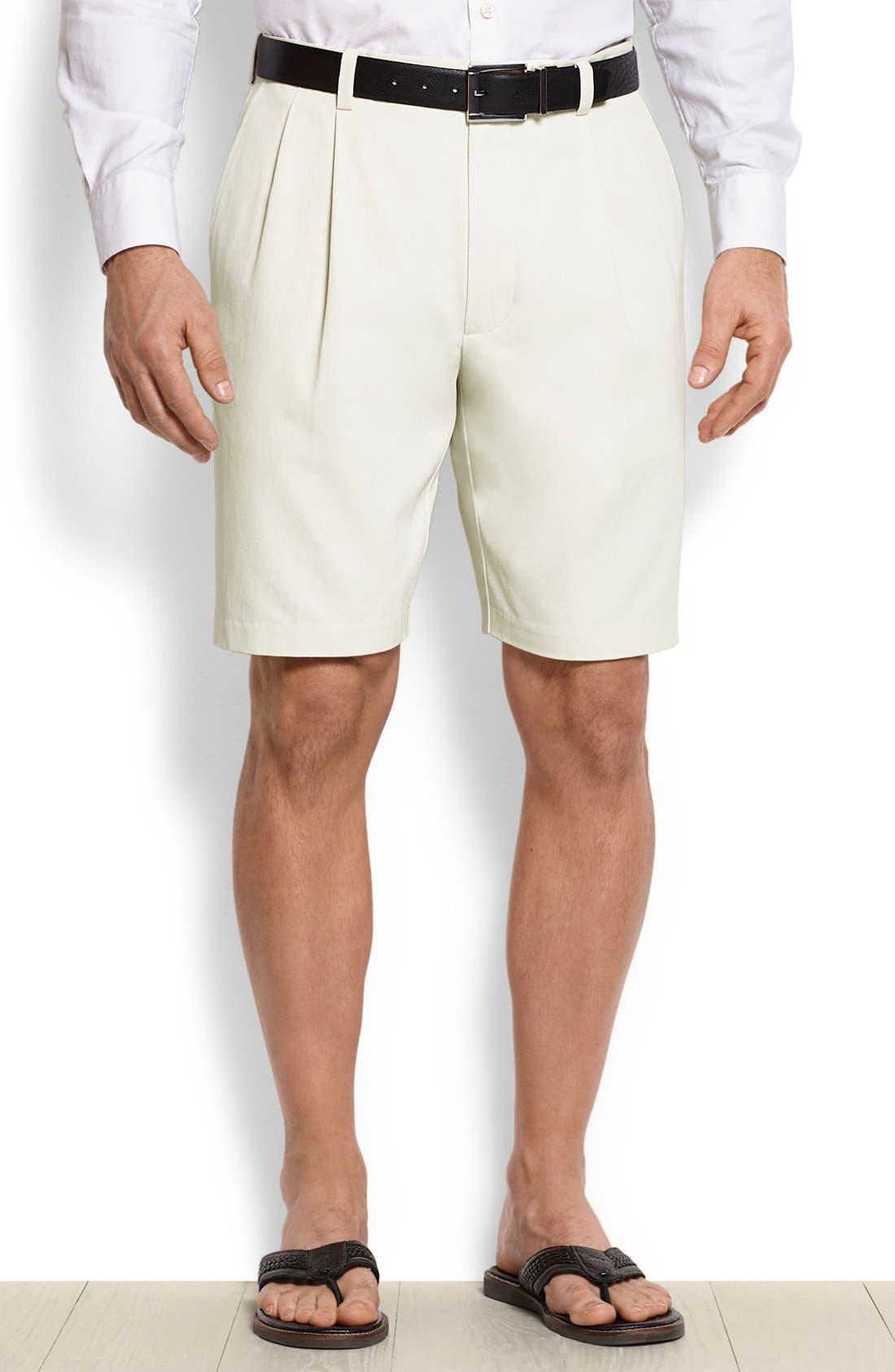 St. Thomas Pleated Shorts,                             Main thumbnail 4, color,