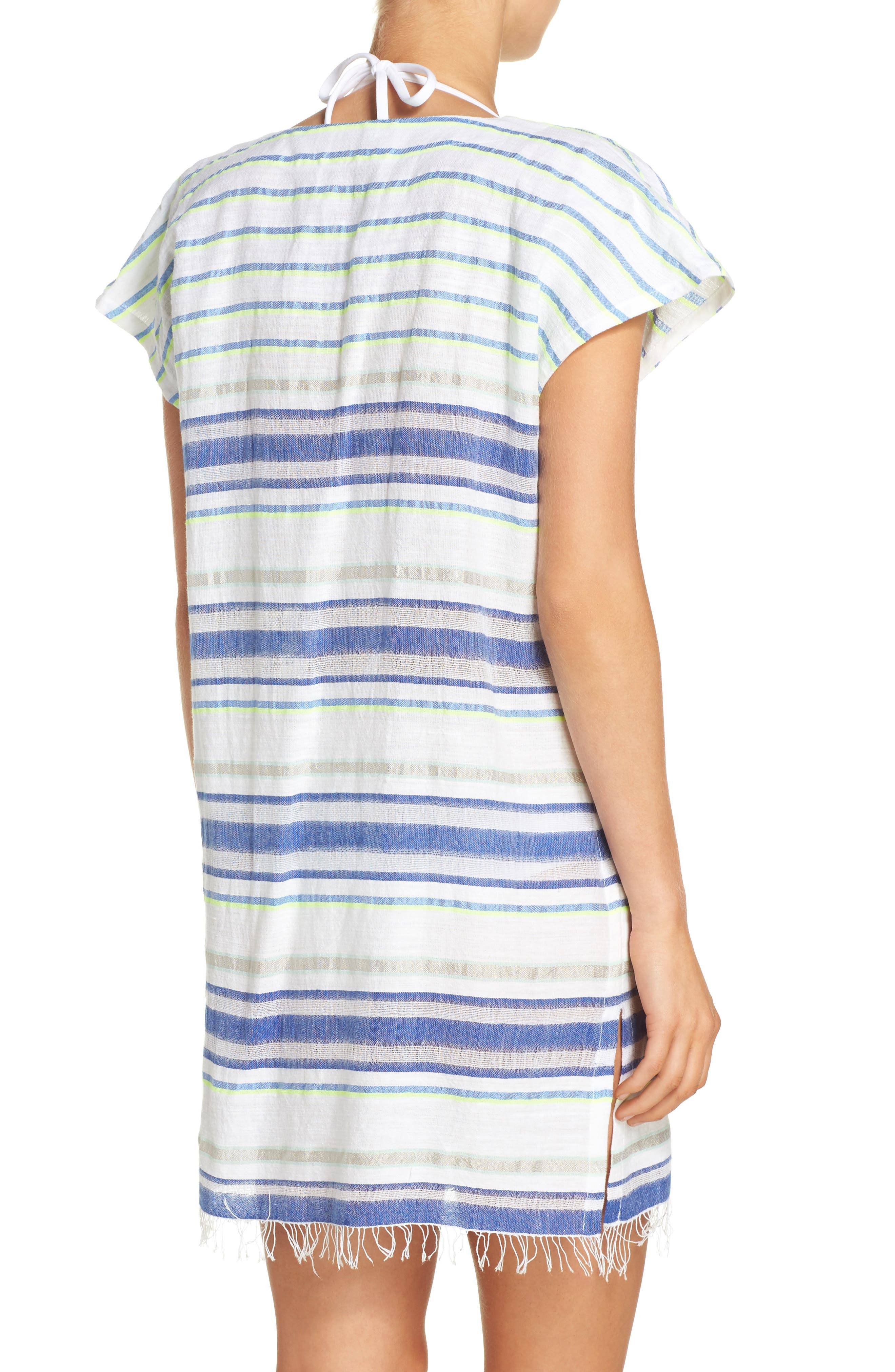 Stripe Cover-Up Tunic,                             Alternate thumbnail 2, color,                             100