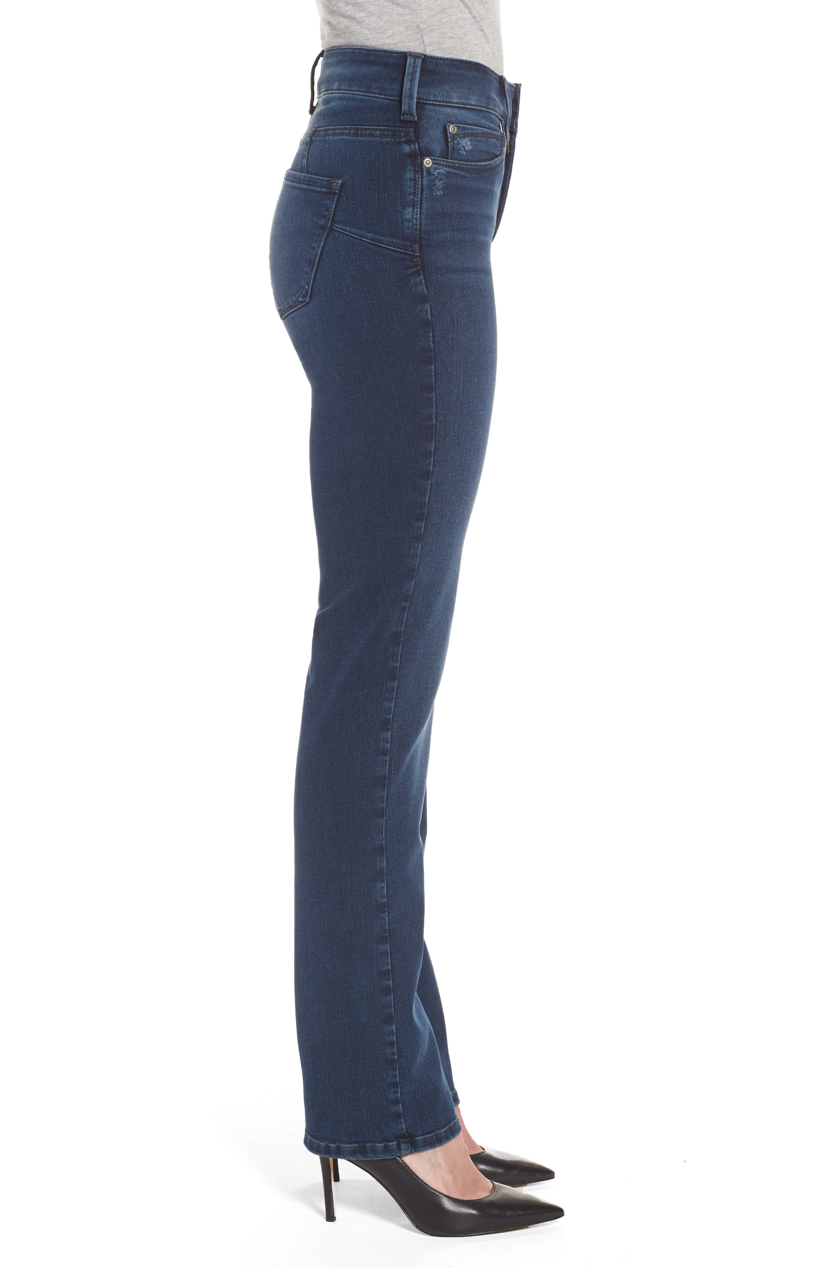 Marilyn Stretch Straight Leg Jeans,                             Alternate thumbnail 3, color,                             406