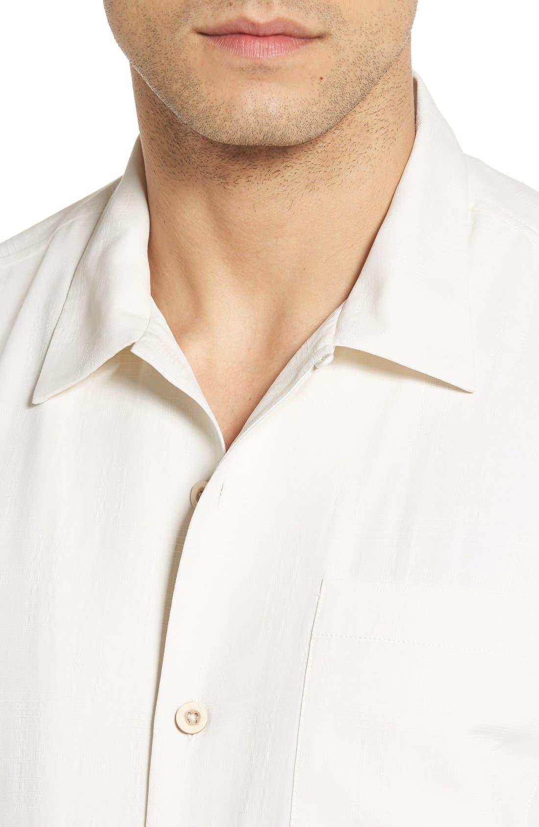 'Geo-Rific Jacquard' Original Fit Silk Camp Shirt,                             Alternate thumbnail 28, color,