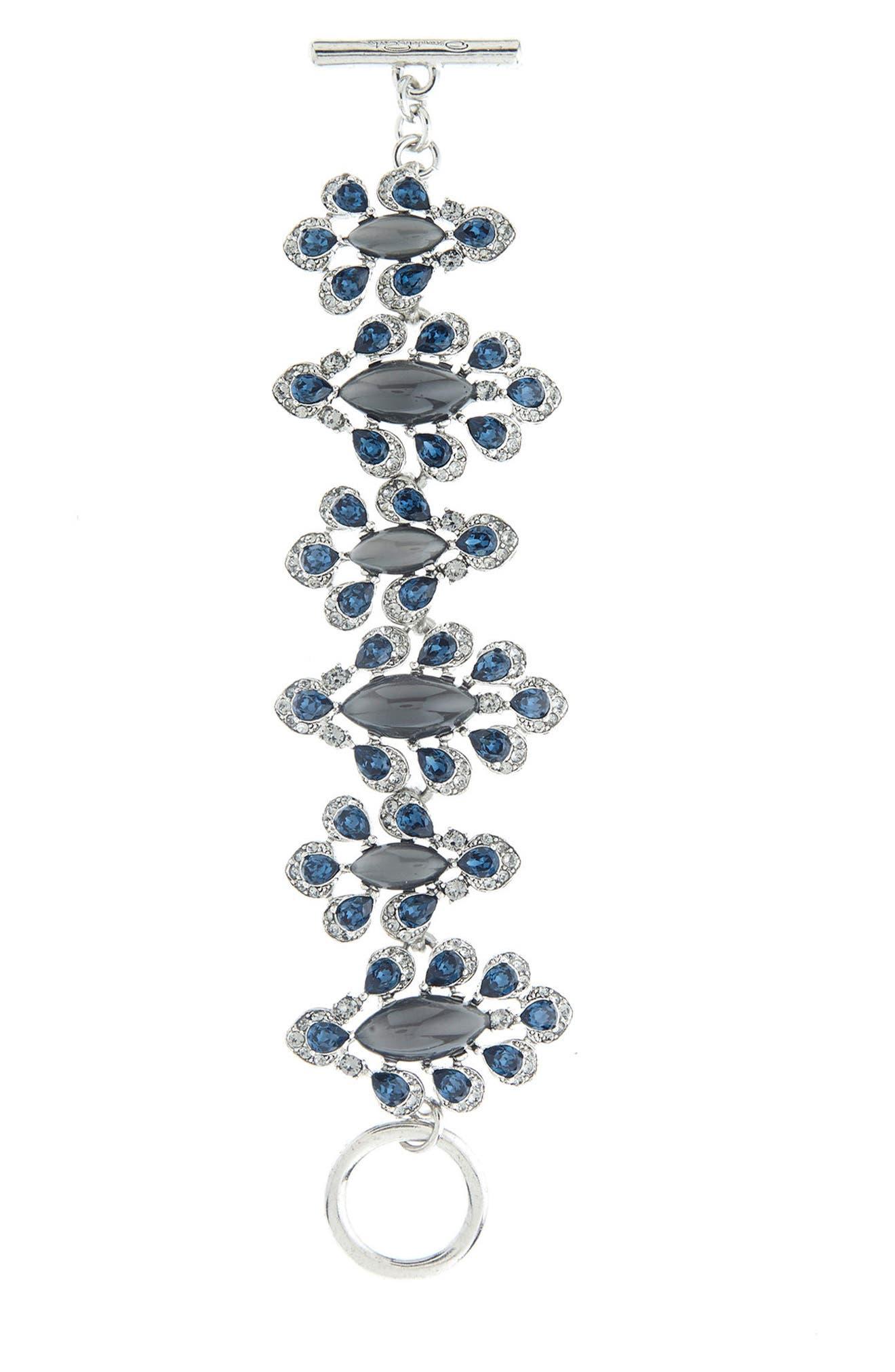 Parlor Swarovski Crystal Bracelet,                             Main thumbnail 1, color,                             400