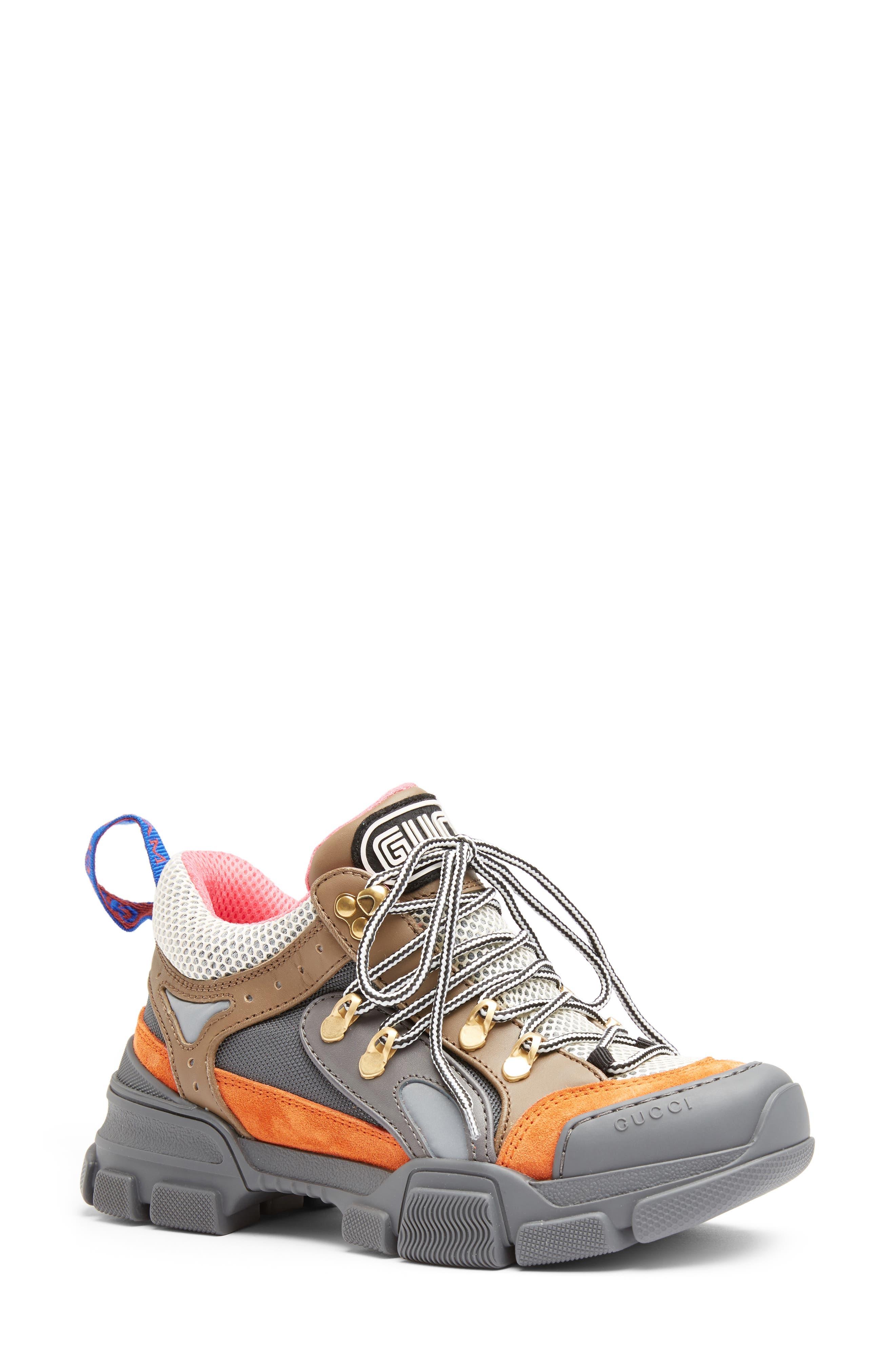 Journey Sneaker,                             Main thumbnail 1, color,                             GREY/ ORANGE