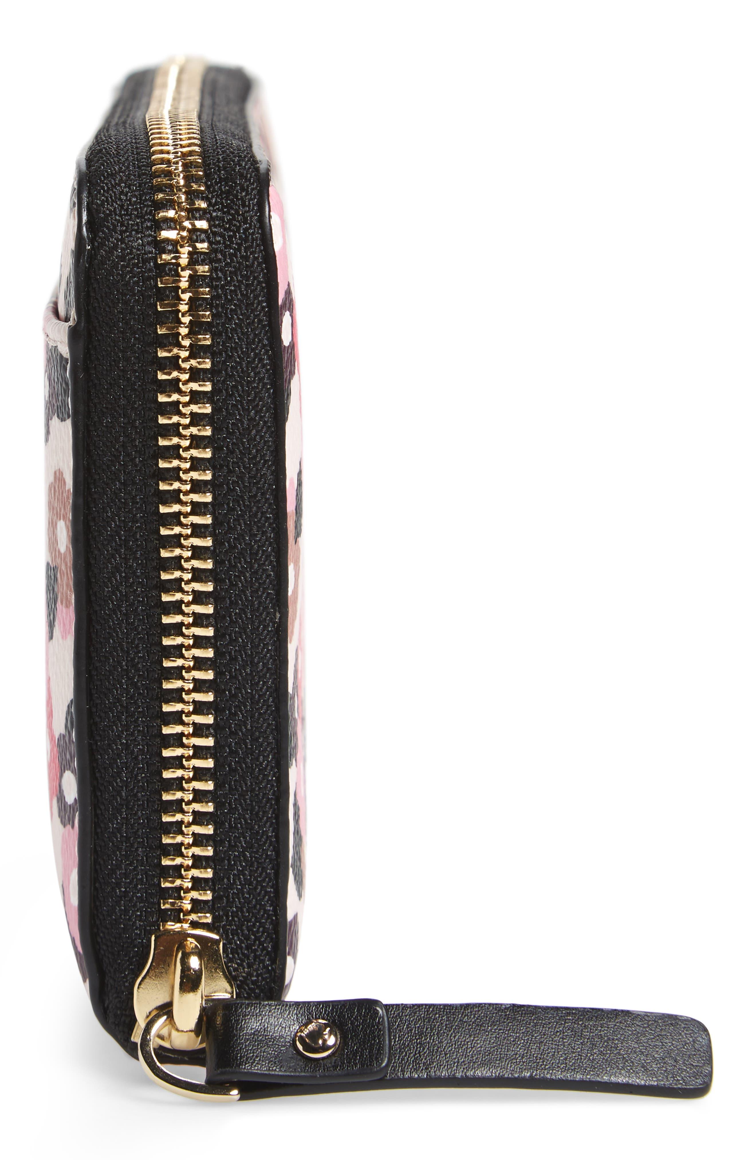 hyde lane michele floral faux leather wallet,                             Alternate thumbnail 5, color,                             687