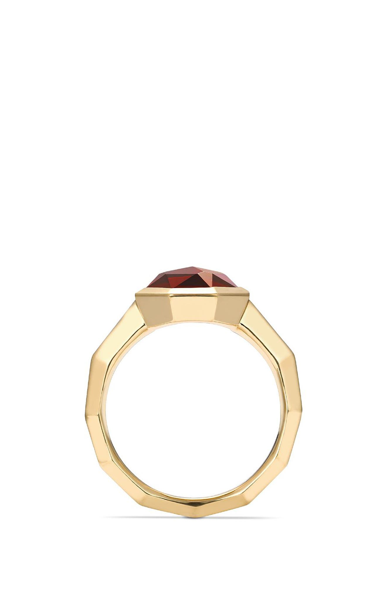 Guilin Octagon Ring with Diamonds in 18K Gold,                             Alternate thumbnail 4, color,                             YELLOW GOLD/ DIAMOND