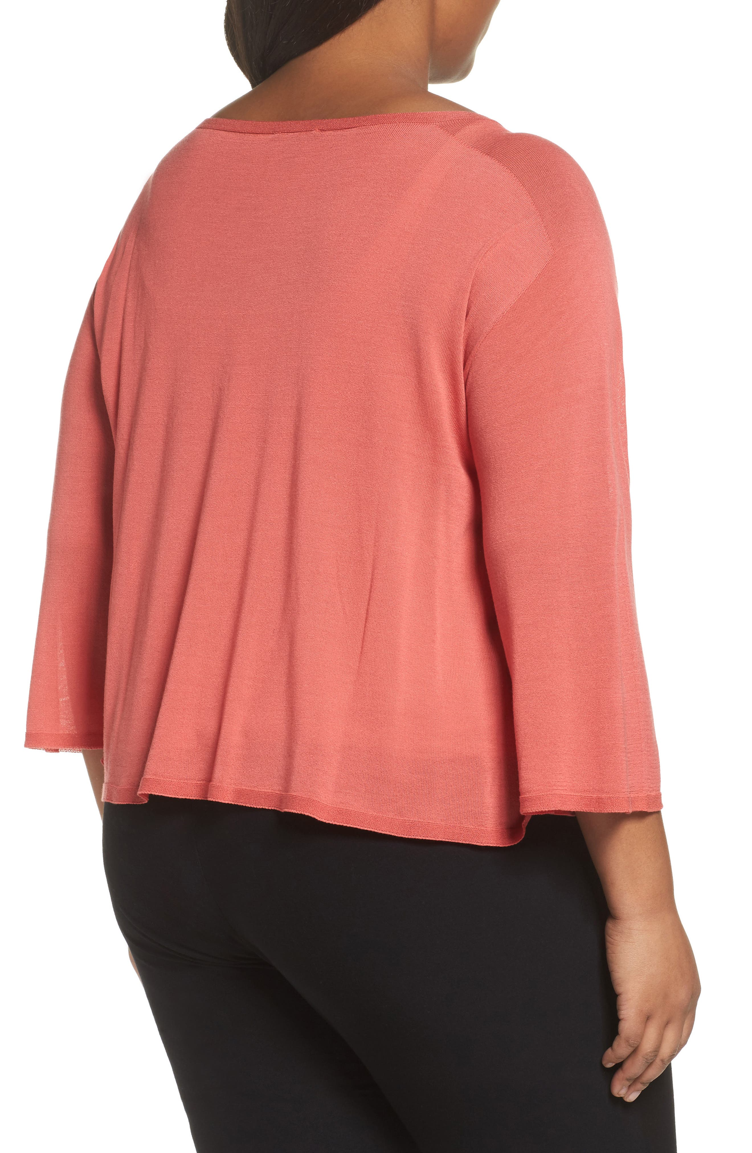 Tencel<sup>®</sup> Lyocell Lyocell Knit Sweater,                             Alternate thumbnail 4, color,