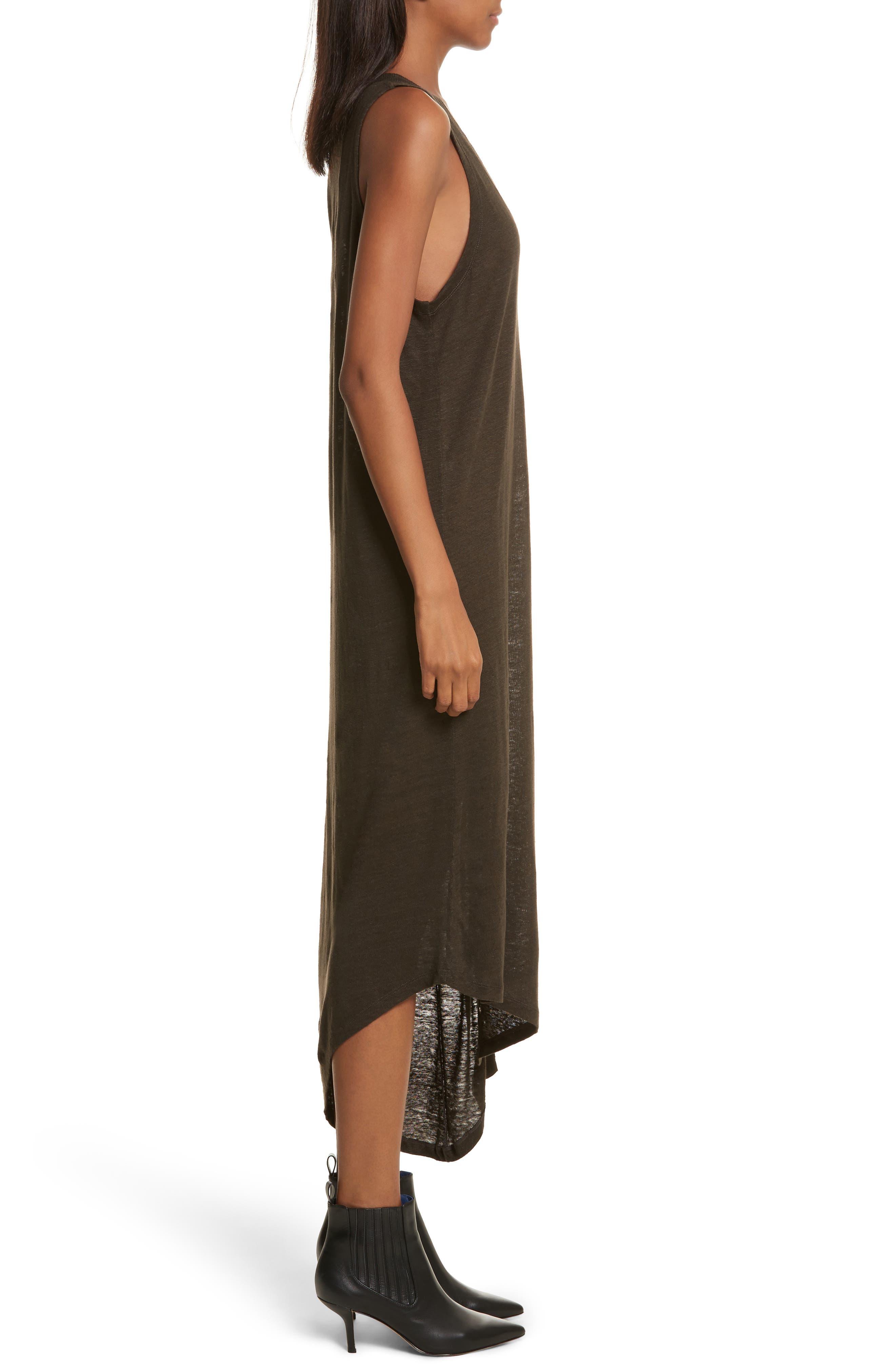 Karossi Asymmetrical Linen Tank Dress,                             Alternate thumbnail 3, color,                             029