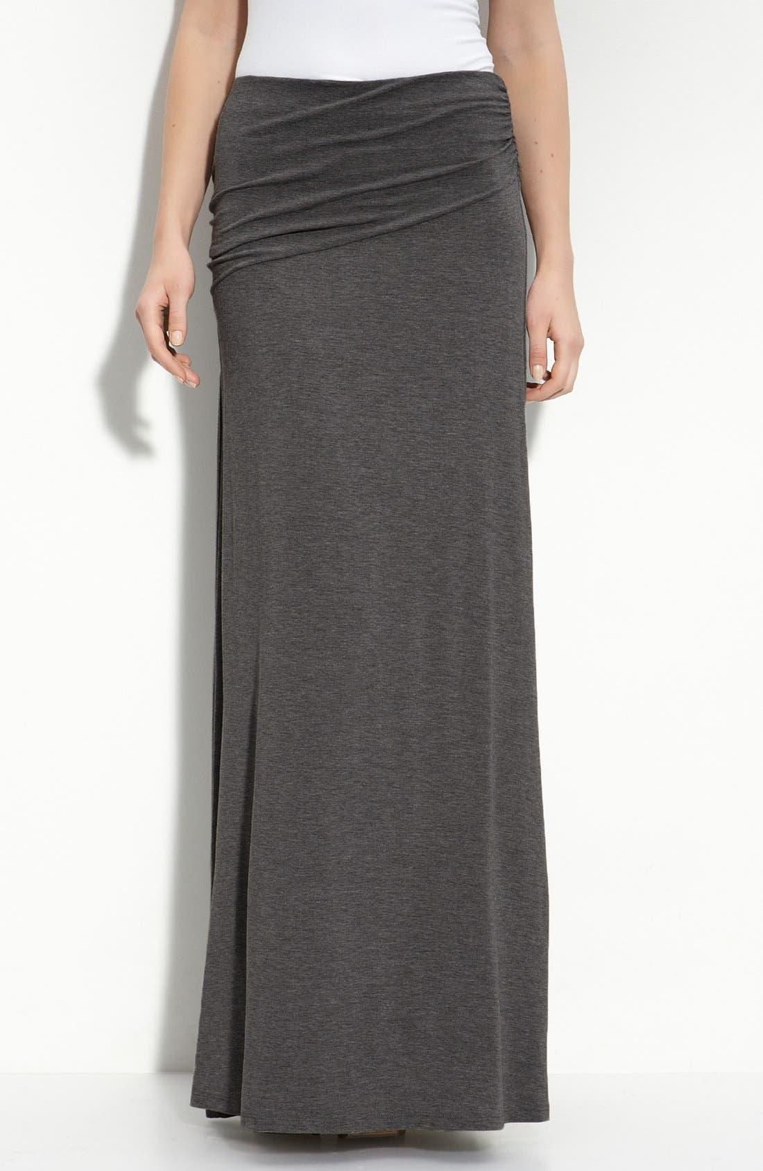 Asymmetric Knit Maxi Skirt,                             Main thumbnail 2, color,