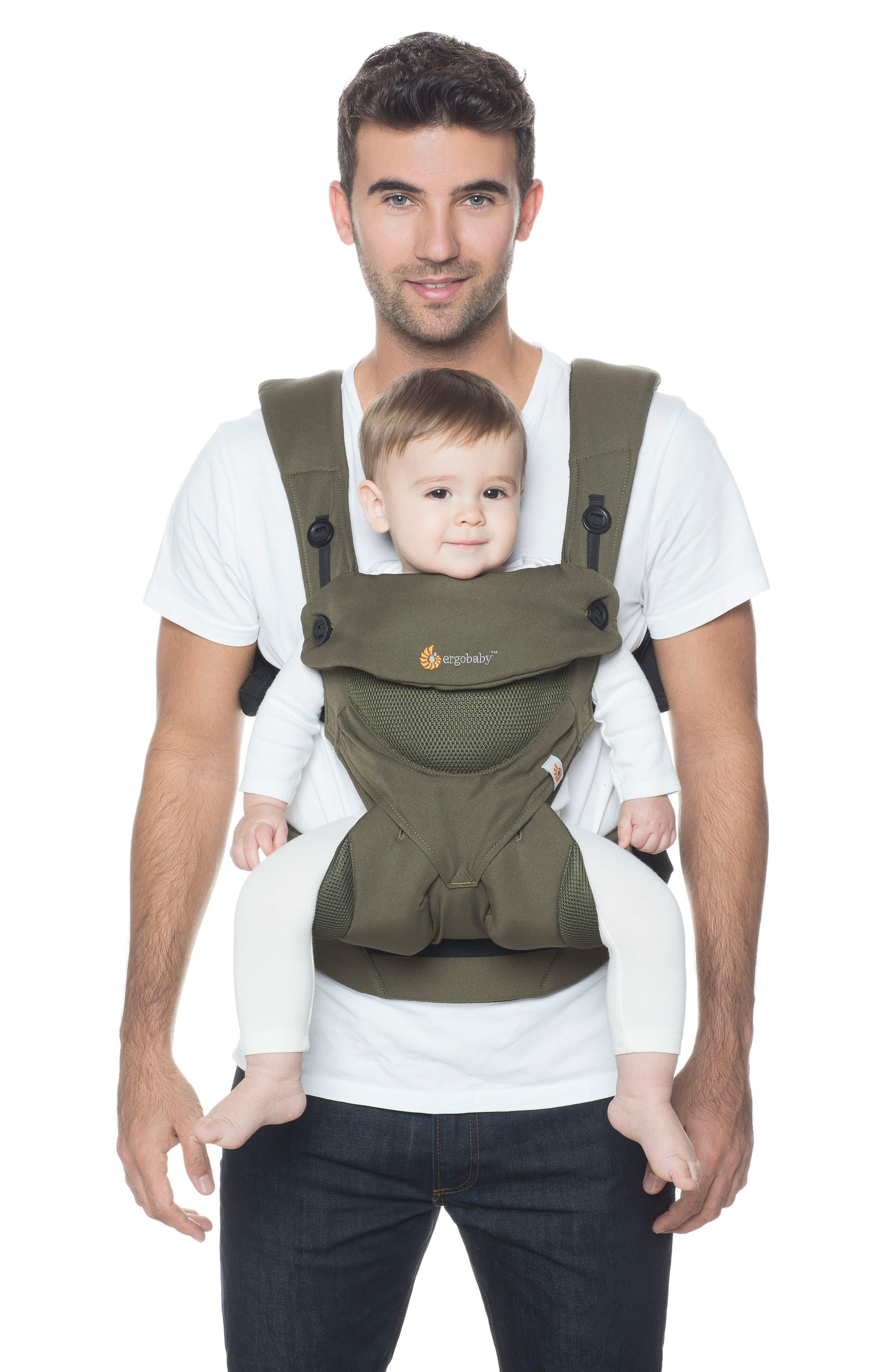 Four Position 360 - Cool Air Baby Carrier,                             Alternate thumbnail 3, color,                             KHAKI GREEN