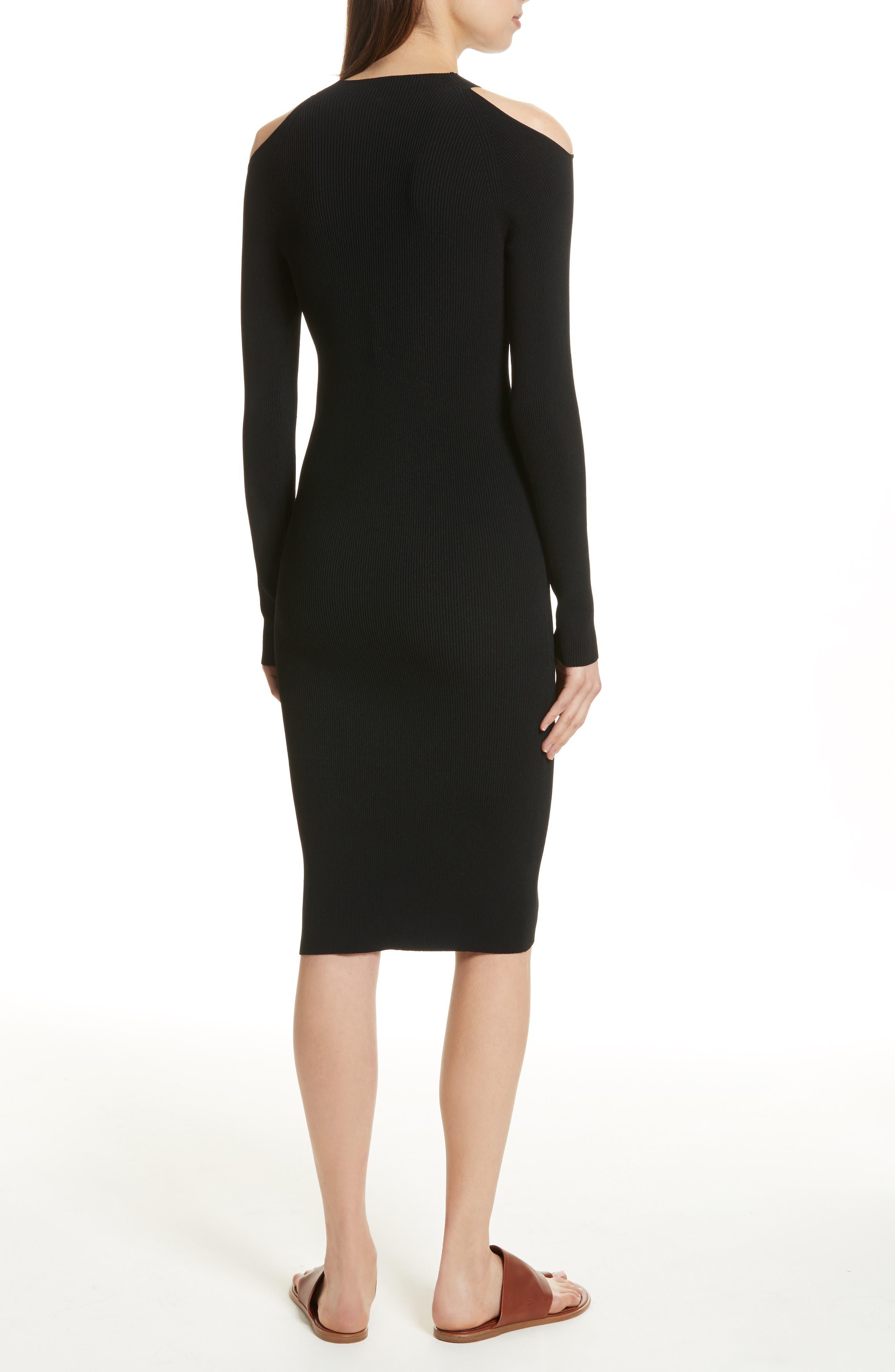 Cold Shoulder Body-Con Dress,                             Alternate thumbnail 2, color,