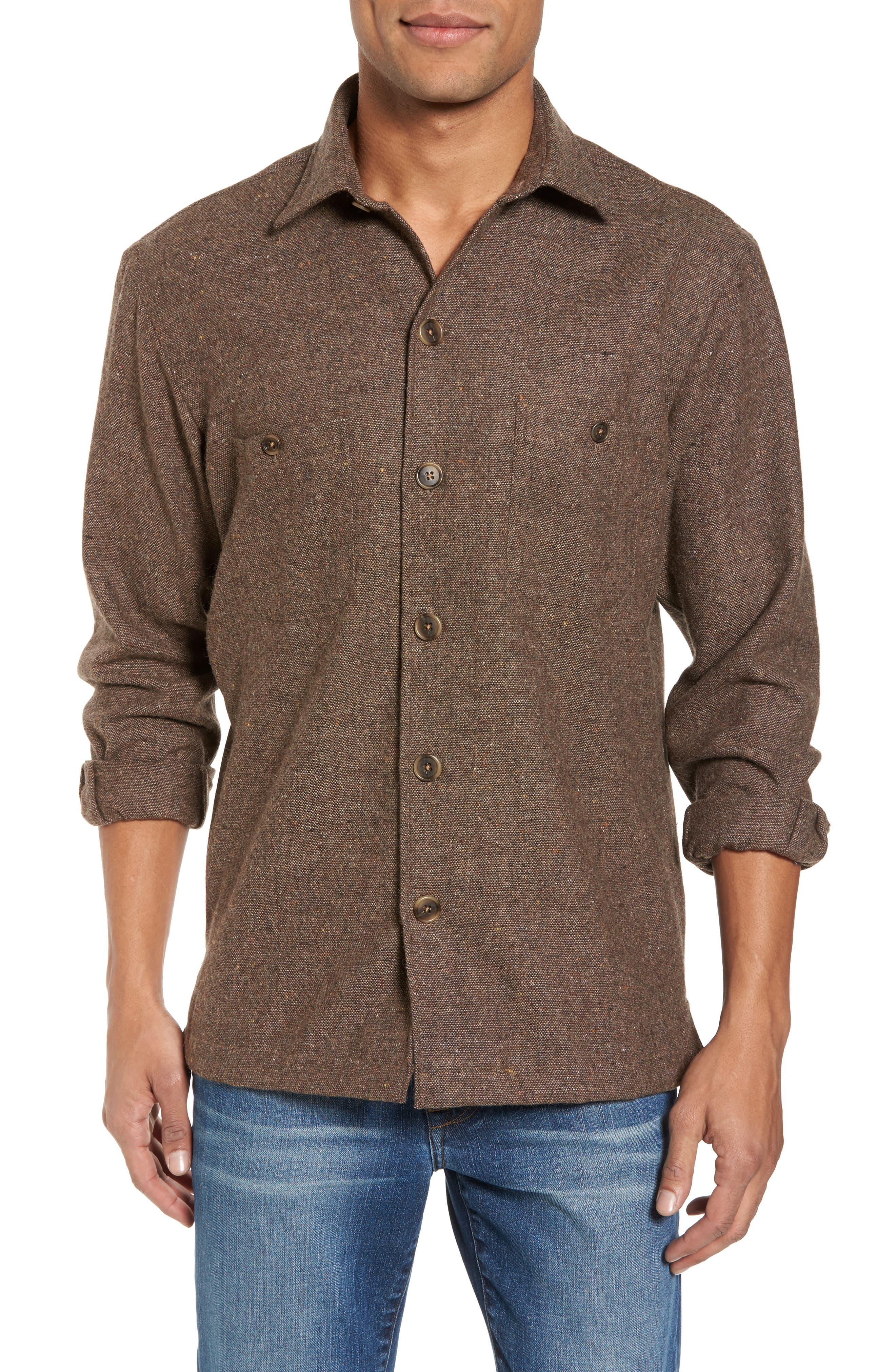 Slim Fit Wool Sport Shirt,                             Main thumbnail 1, color,