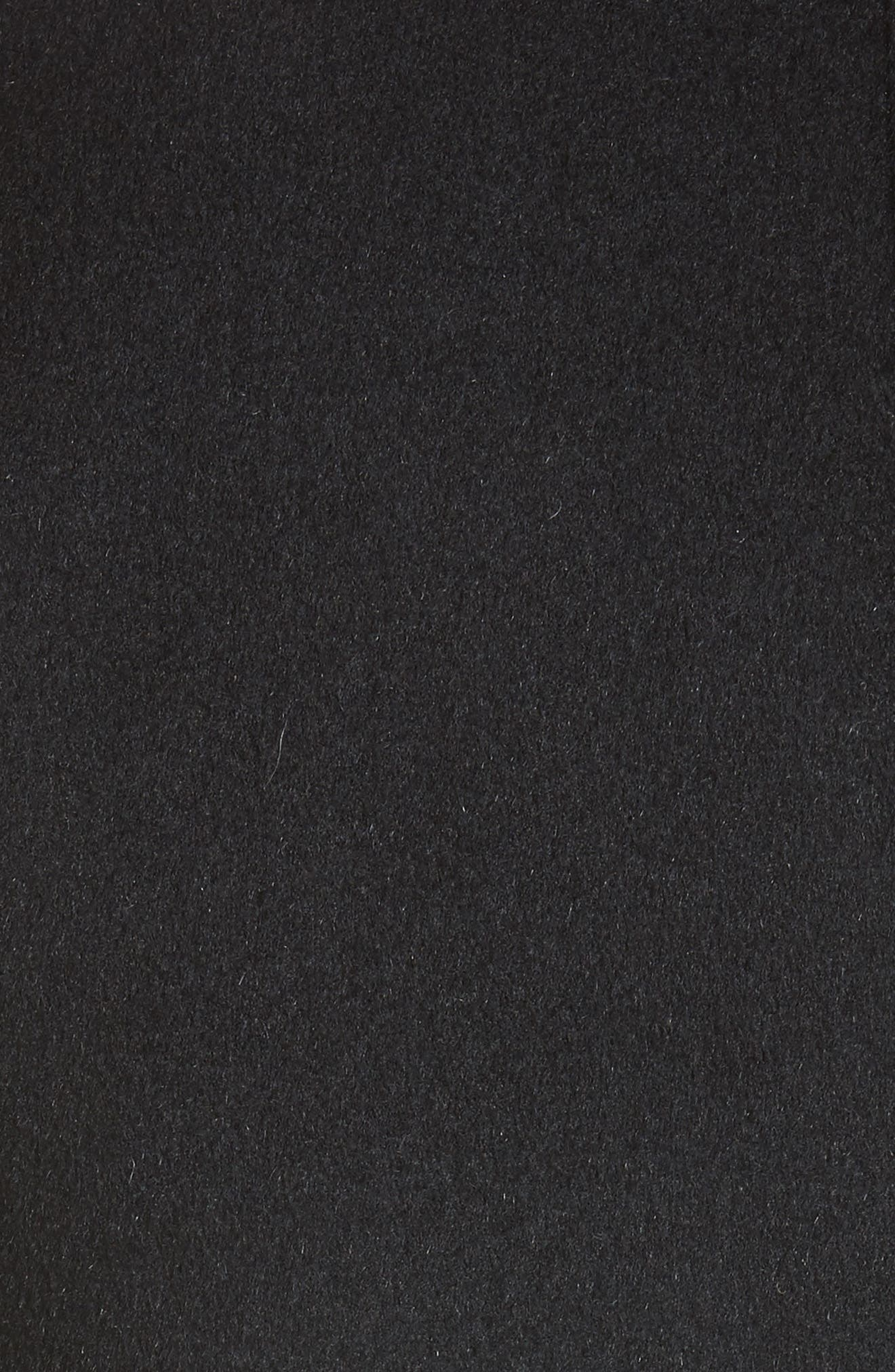 Genuine Fox Fur Trim Wool Blend Jacket,                             Alternate thumbnail 6, color,                             001