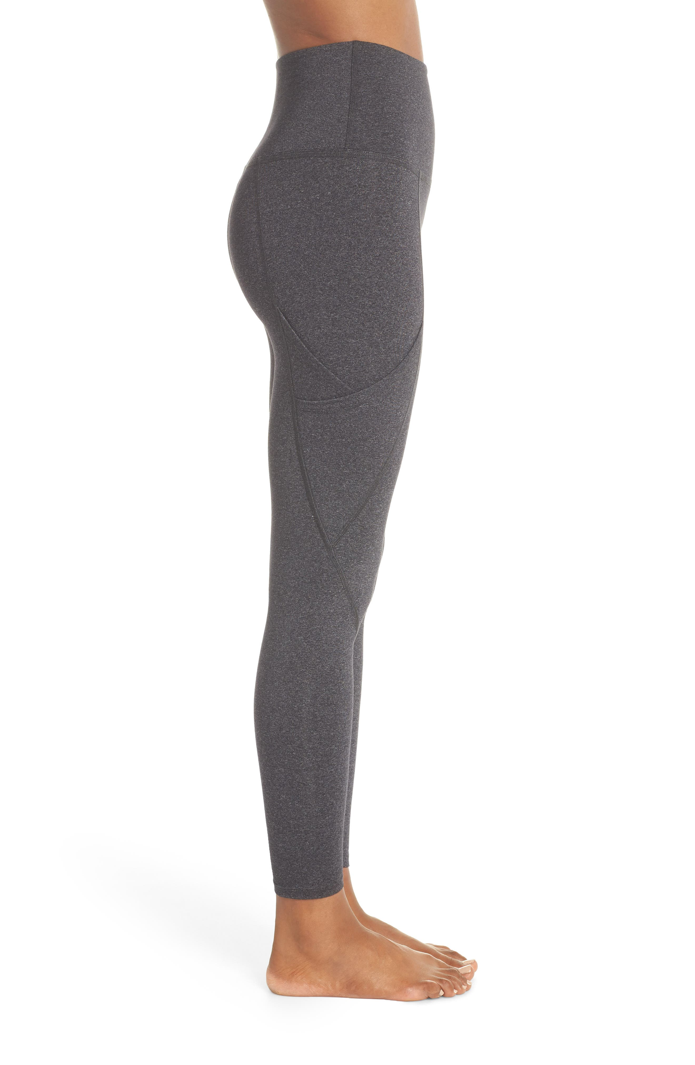 Palomino Midi High Waisted Leggings,                             Alternate thumbnail 3, color,                             030
