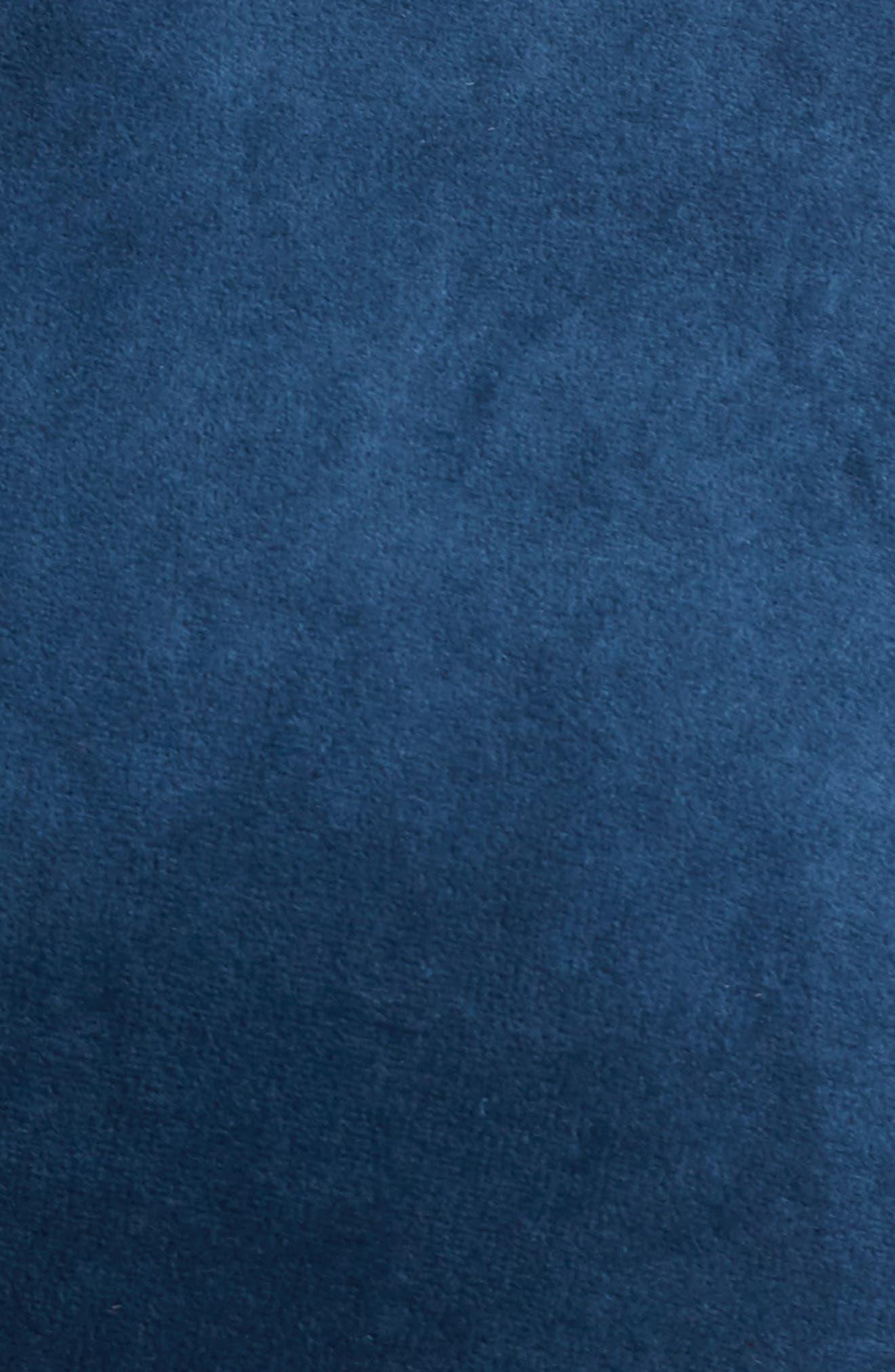 Velour Hoodie,                             Alternate thumbnail 5, color,                             BLUE AURORA
