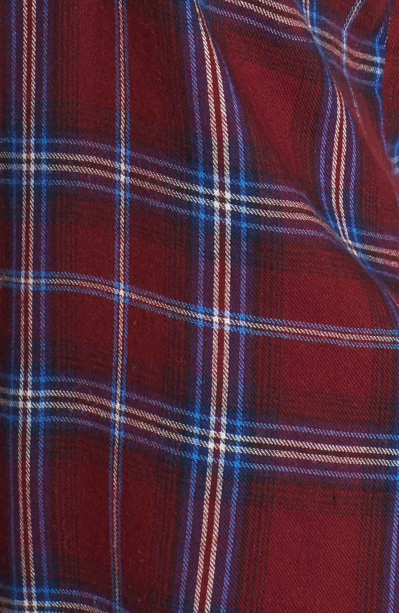 Plaid Cotton Blend Shirt,                             Alternate thumbnail 23, color,
