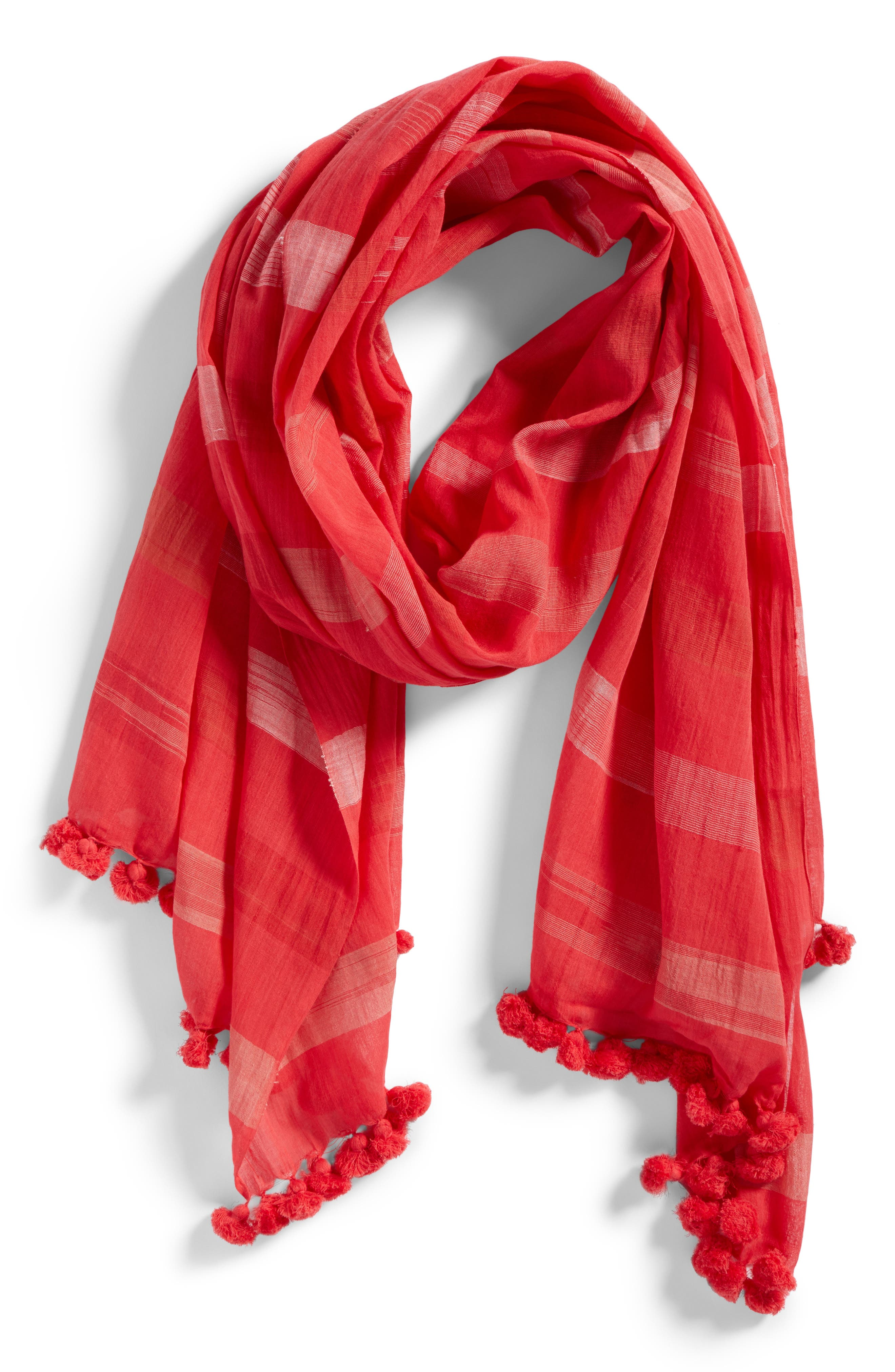 Organic Cotton Scarf,                             Alternate thumbnail 2, color,                             646