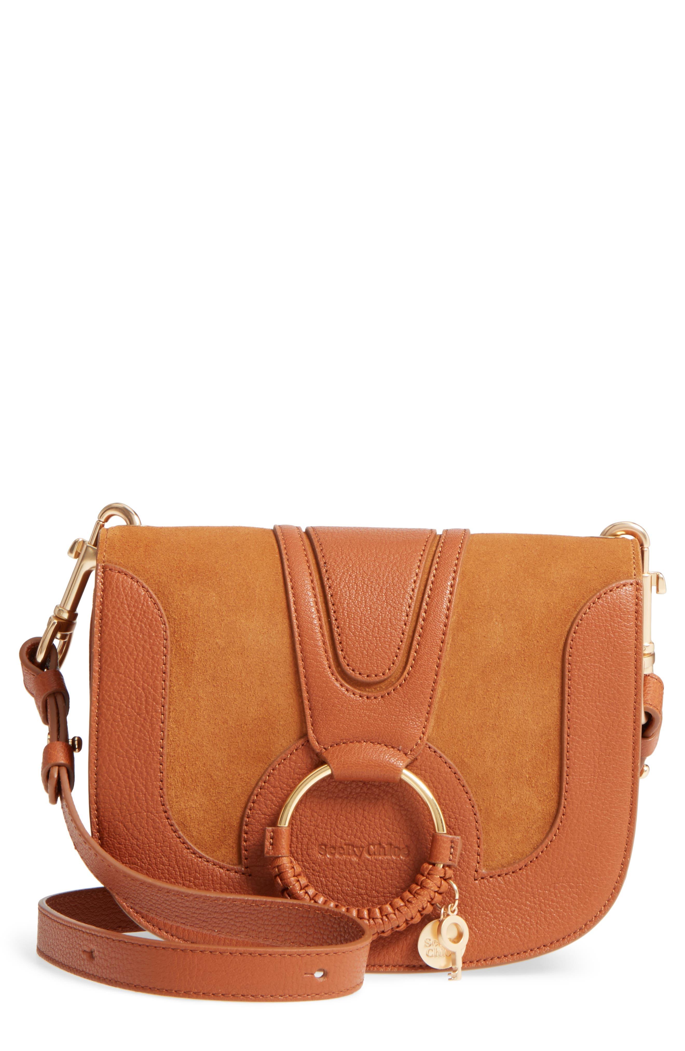 Hana Small Leather Crossbody Bag,                         Main,                         color,