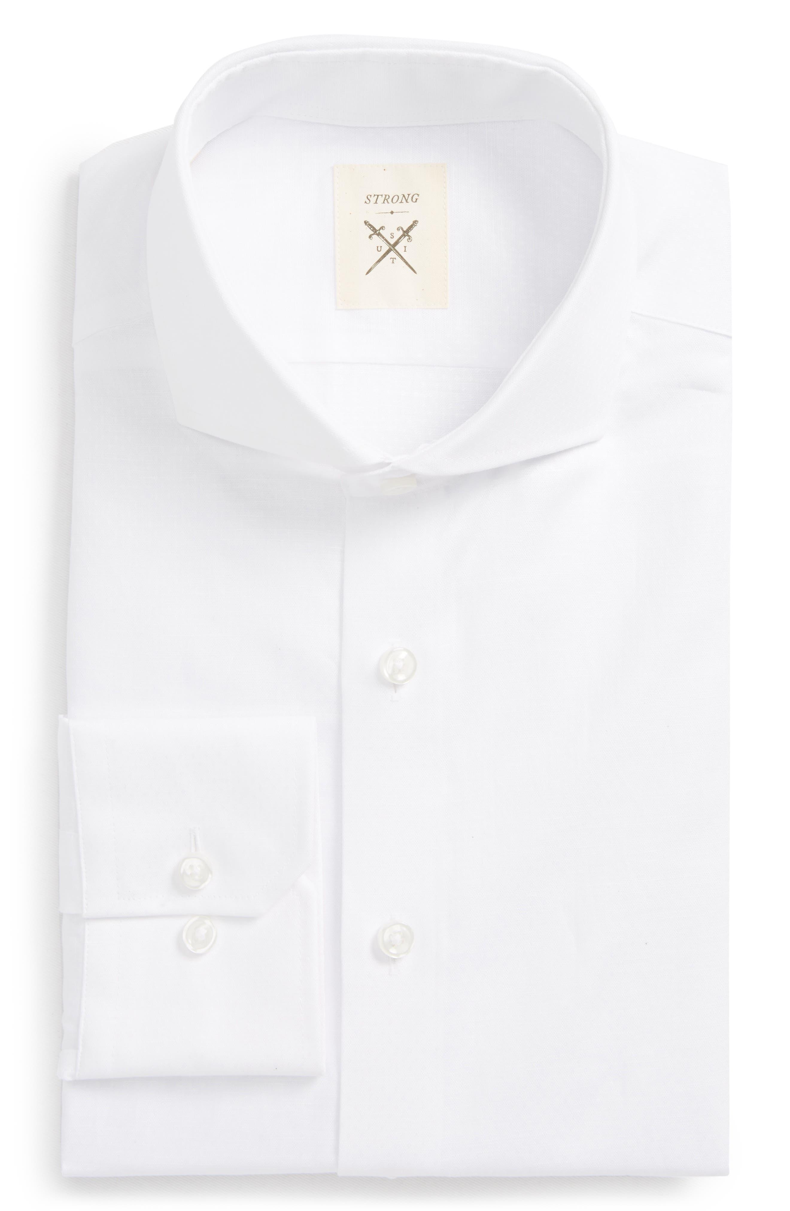 Espirit Trim Fit Dot Dress Shirt,                             Main thumbnail 1, color,                             113
