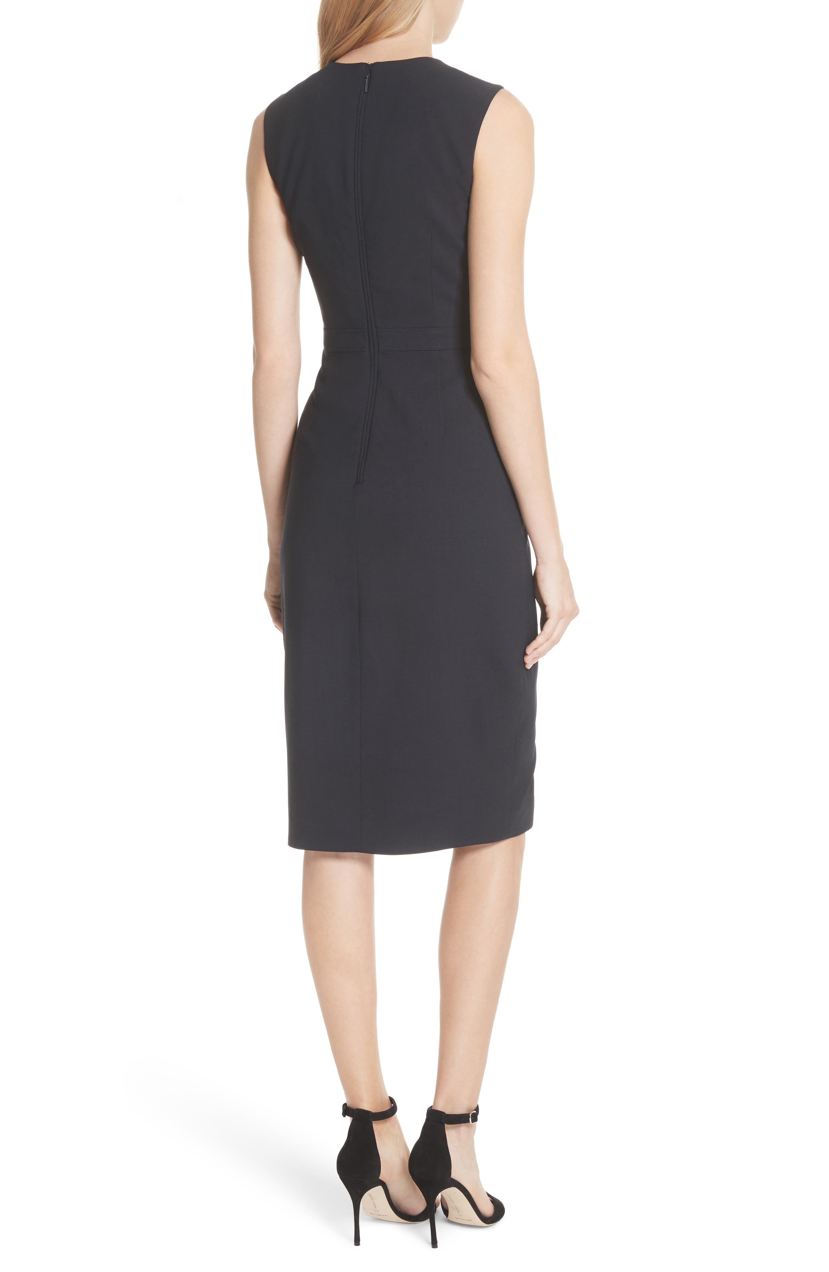 Ted Working Title Faux Wrap Dress,                             Alternate thumbnail 2, color,                             NAVY