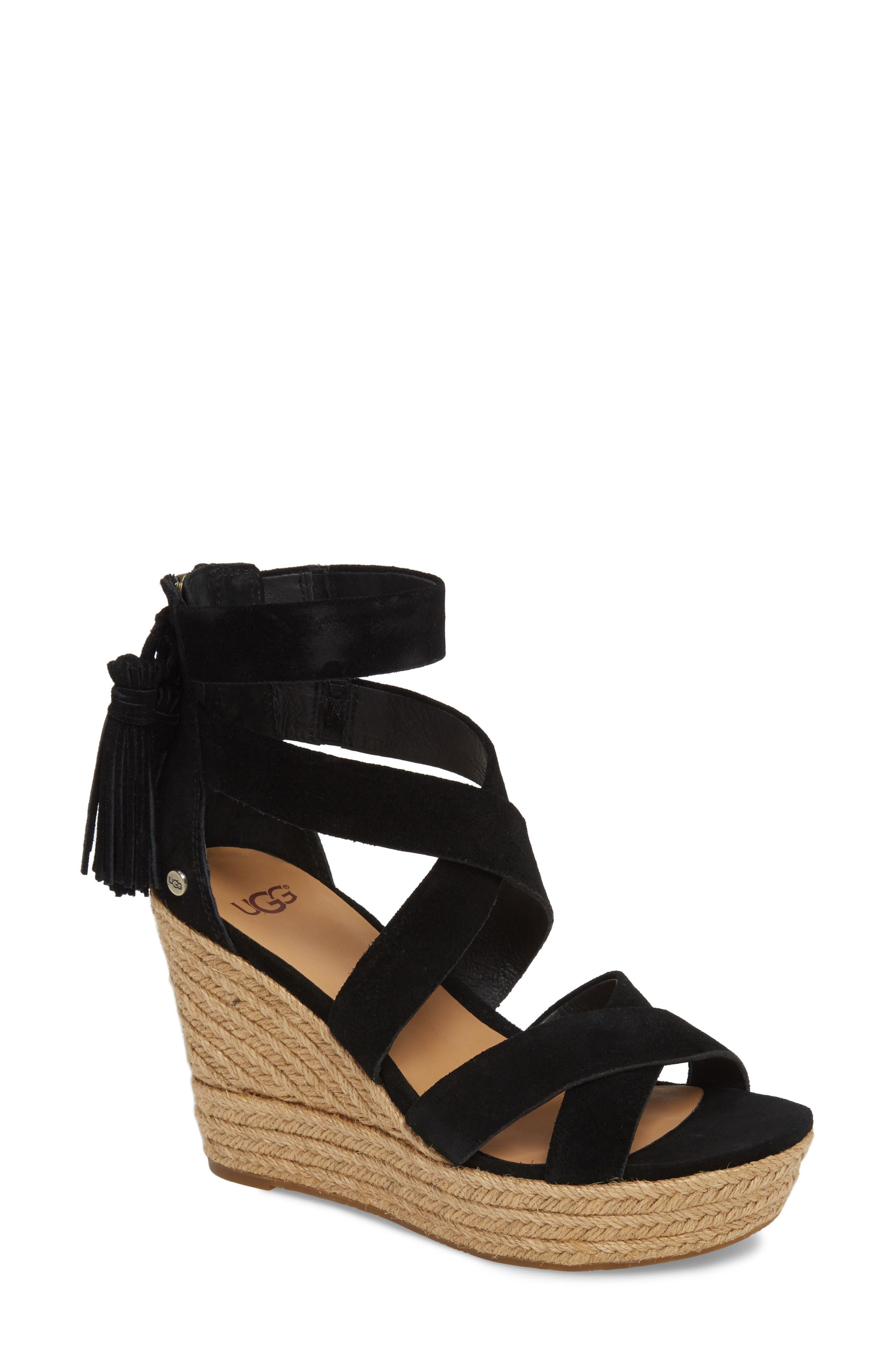 Raquel Platform Wedge Sandal,                         Main,                         color, 001