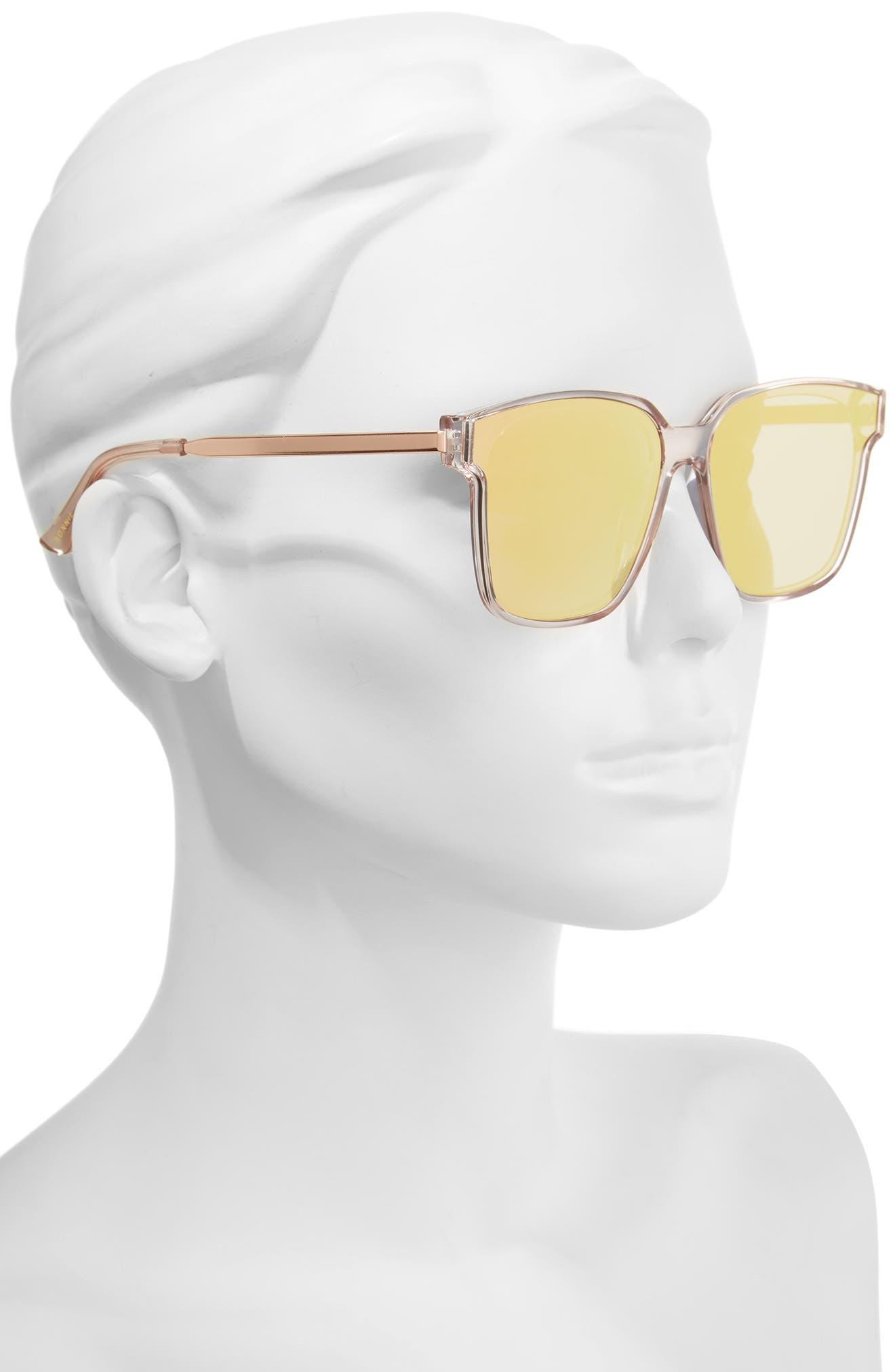 Wall 62mm Square Mirror Lens Sunglasses,                             Alternate thumbnail 8, color,
