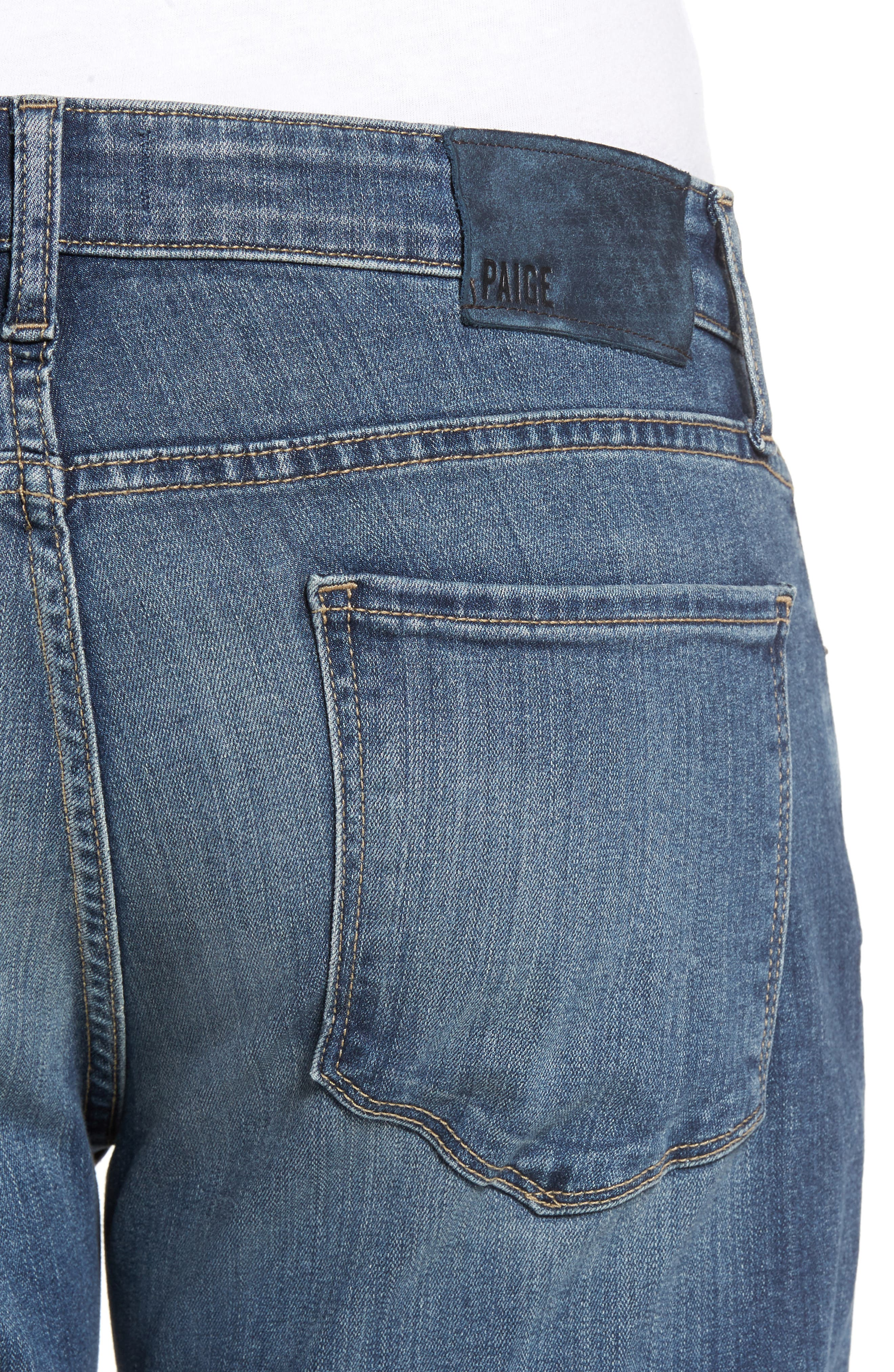 Normandie Straight Fit Jeans,                             Alternate thumbnail 4, color,                             ALMONT