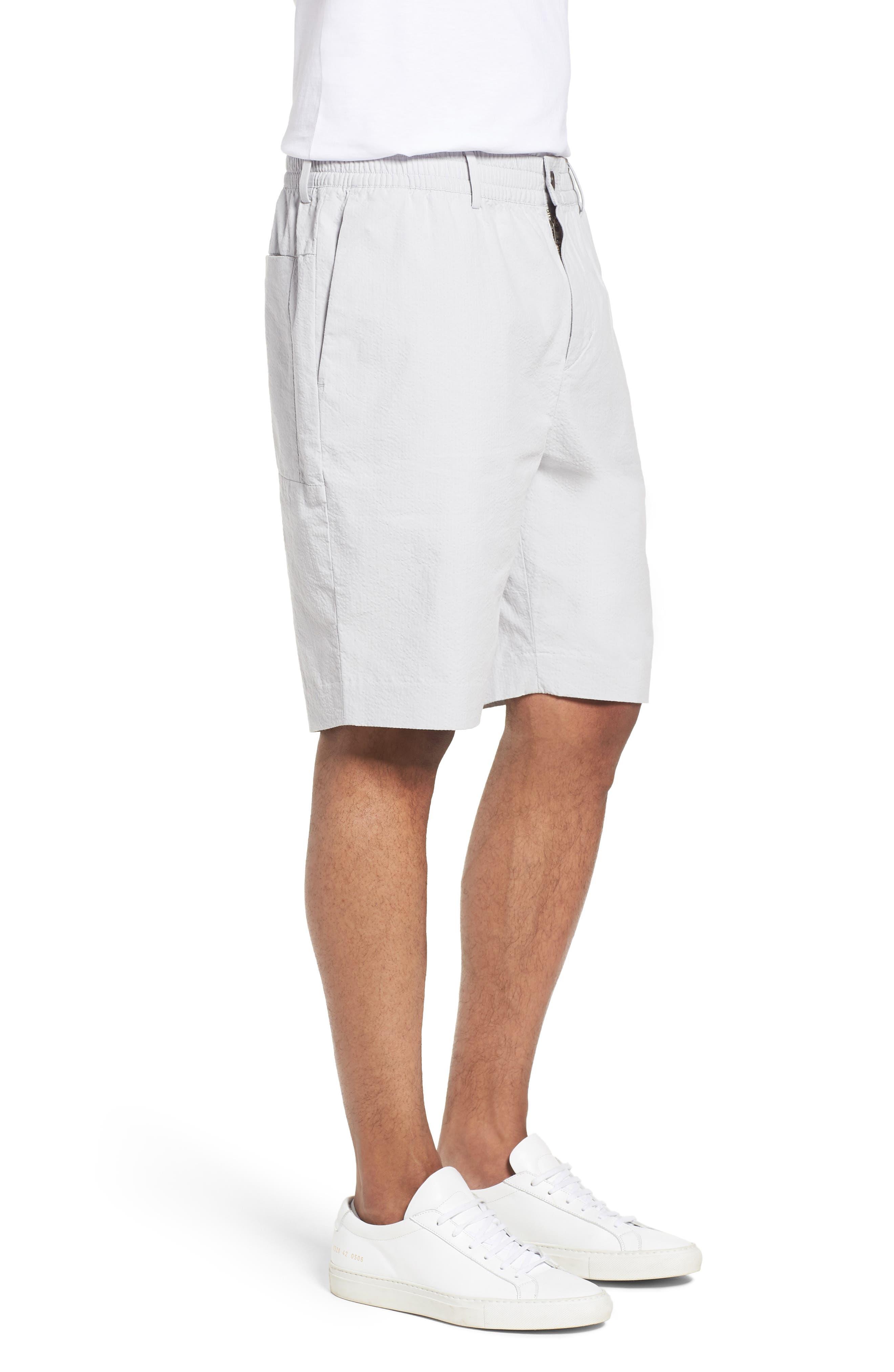 Elastic Waist Seersucker Shorts,                             Alternate thumbnail 3, color,                             030