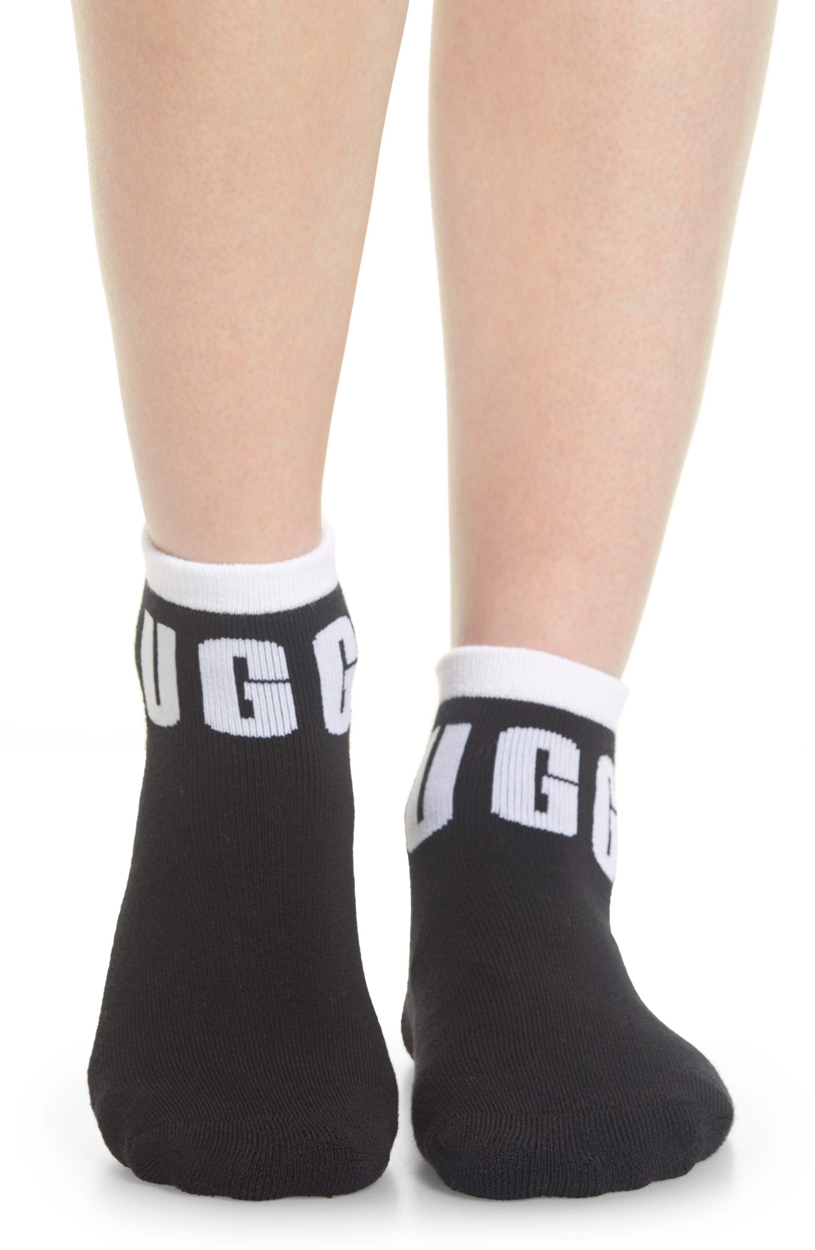 Ankle Socks,                             Alternate thumbnail 2, color,                             BLACK