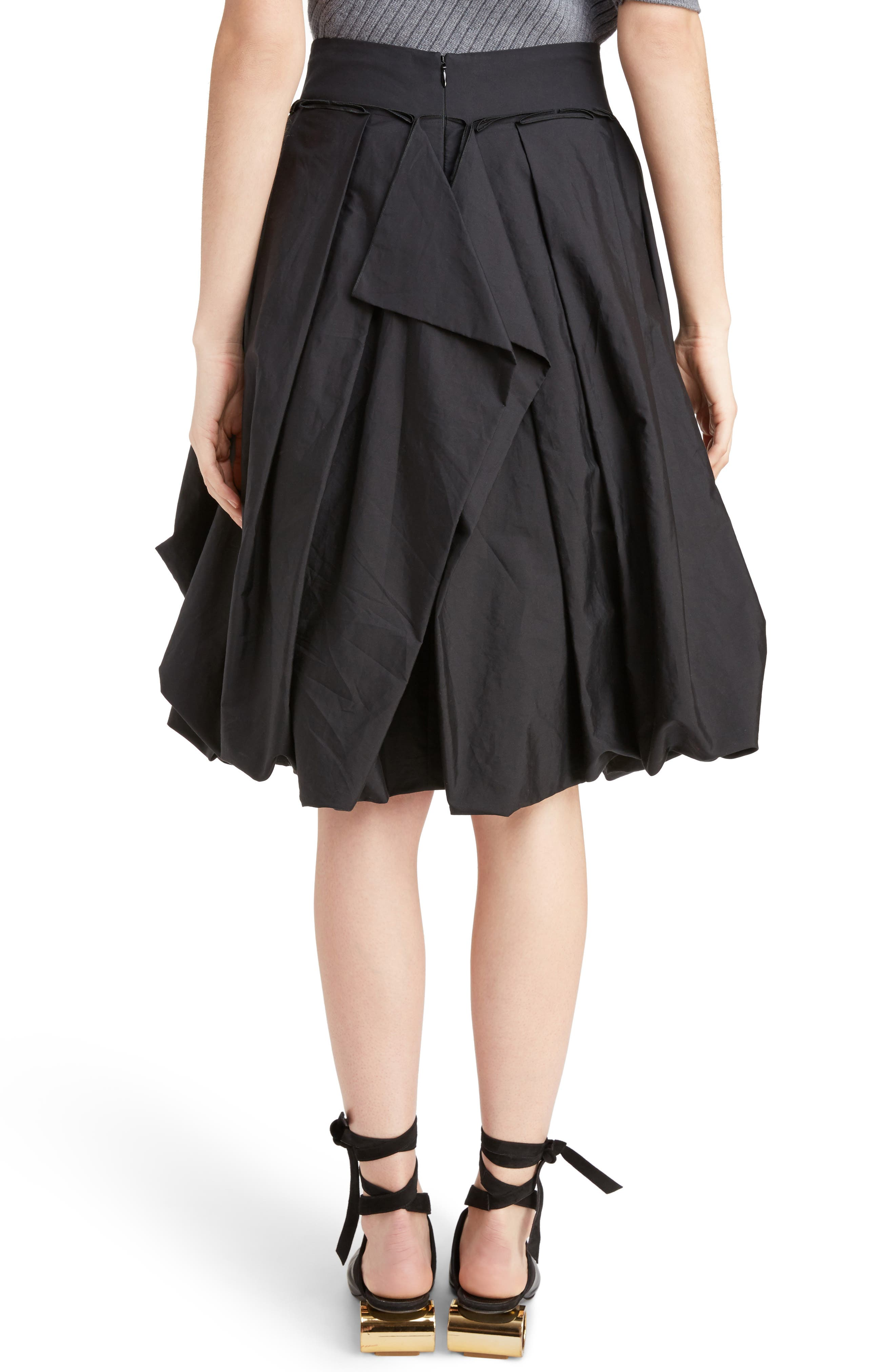 J.W.ANDERSON Drape Pockets Pleated Skirt,                             Alternate thumbnail 2, color,                             001