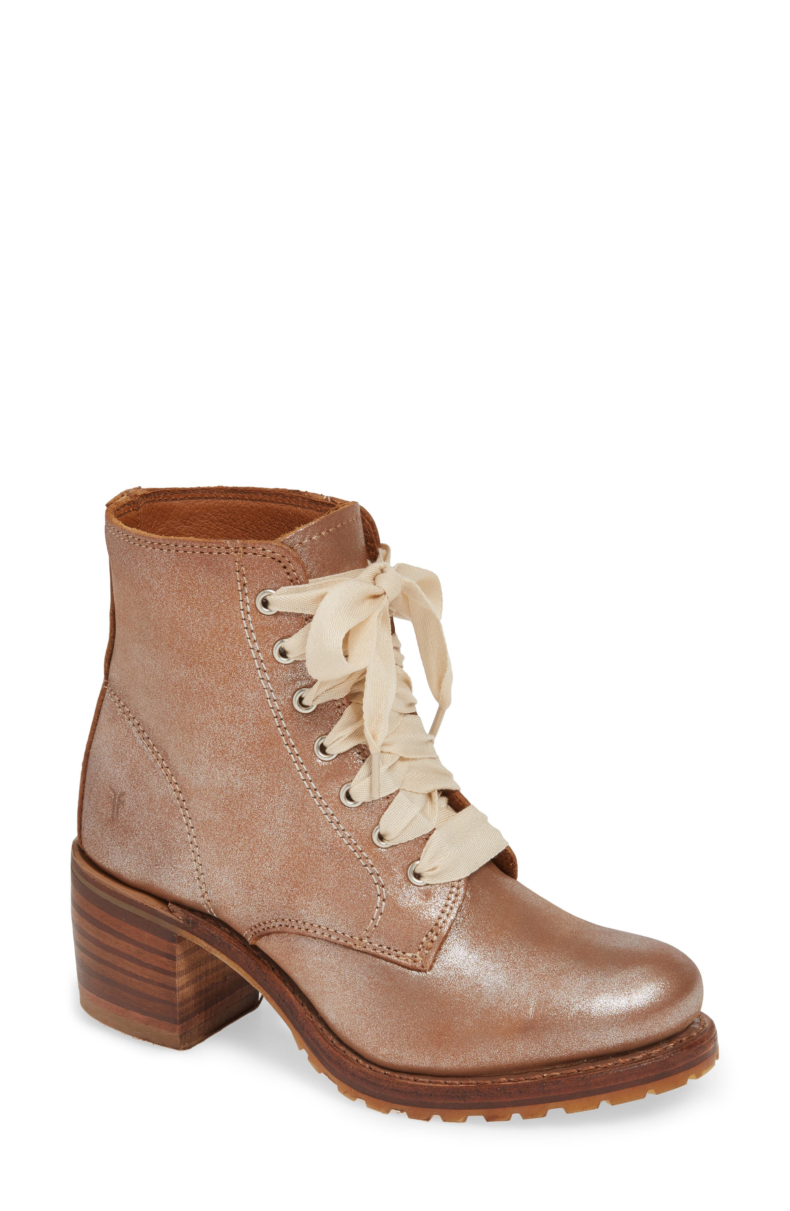 'Sabrina' Boot,                         Main,                         color, SILVER LEATHER