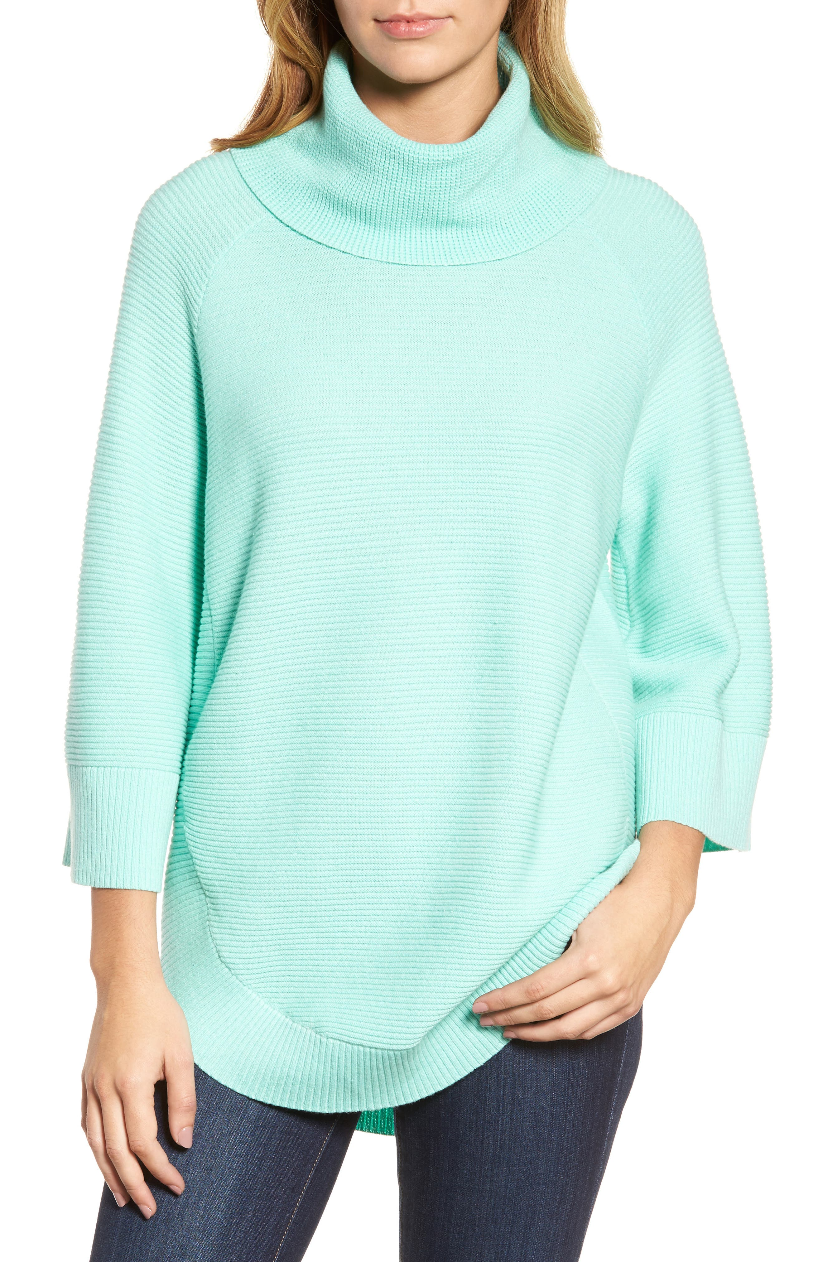 Cowl Neck Shirttail Hem Sweater,                             Main thumbnail 1, color,                             336
