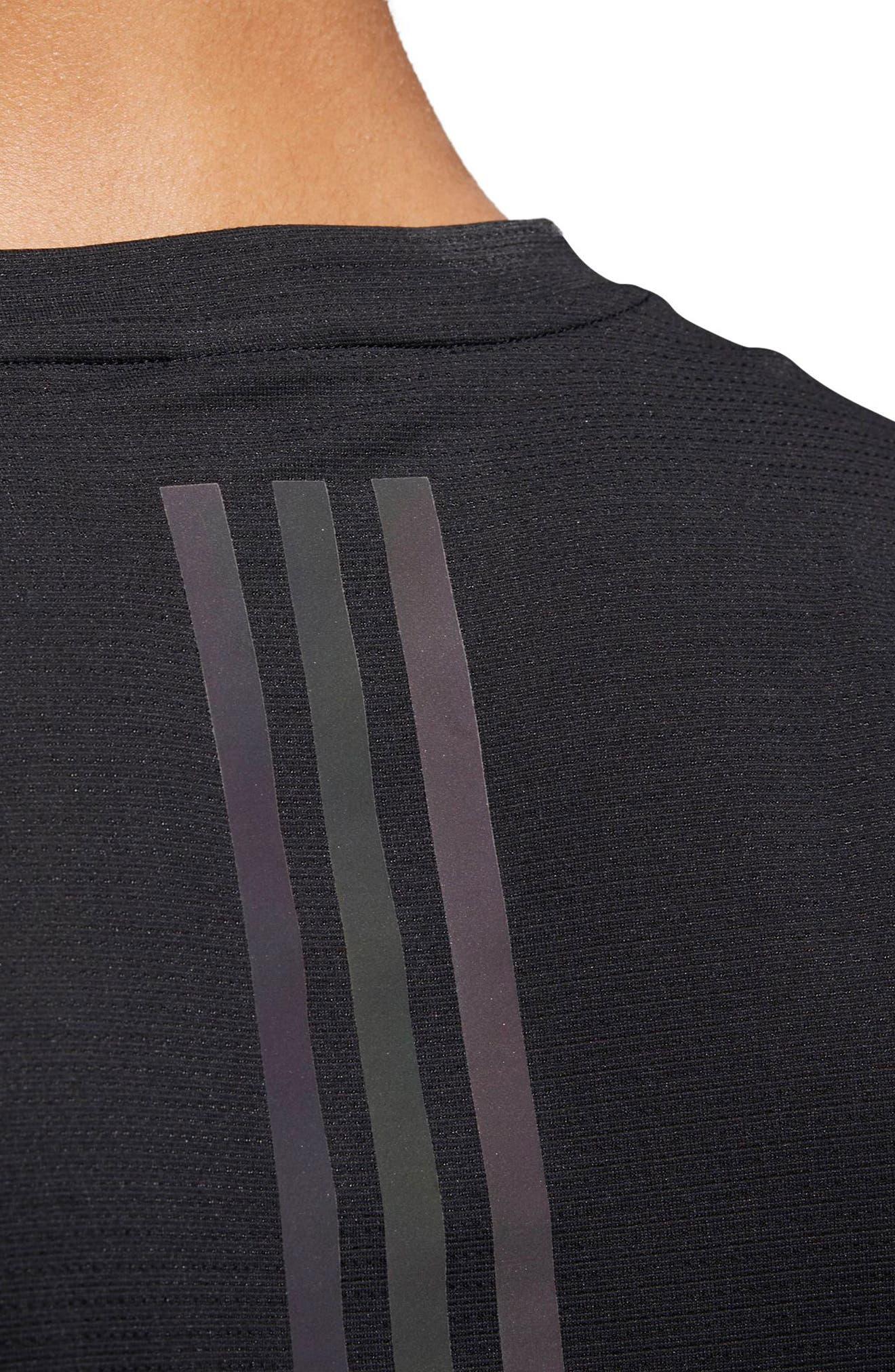Supernova Regular Fit Short Sleeve Reflective Running T-Shirt,                             Alternate thumbnail 4, color,                             BLACK