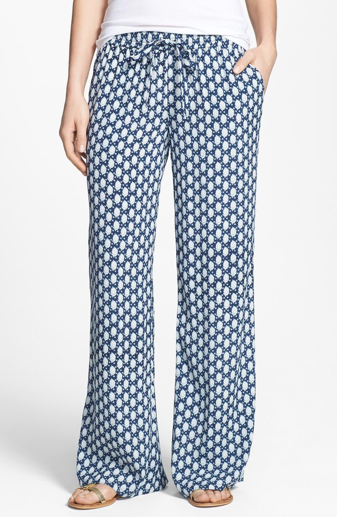Floral Pattern Pants,                         Main,                         color, 486