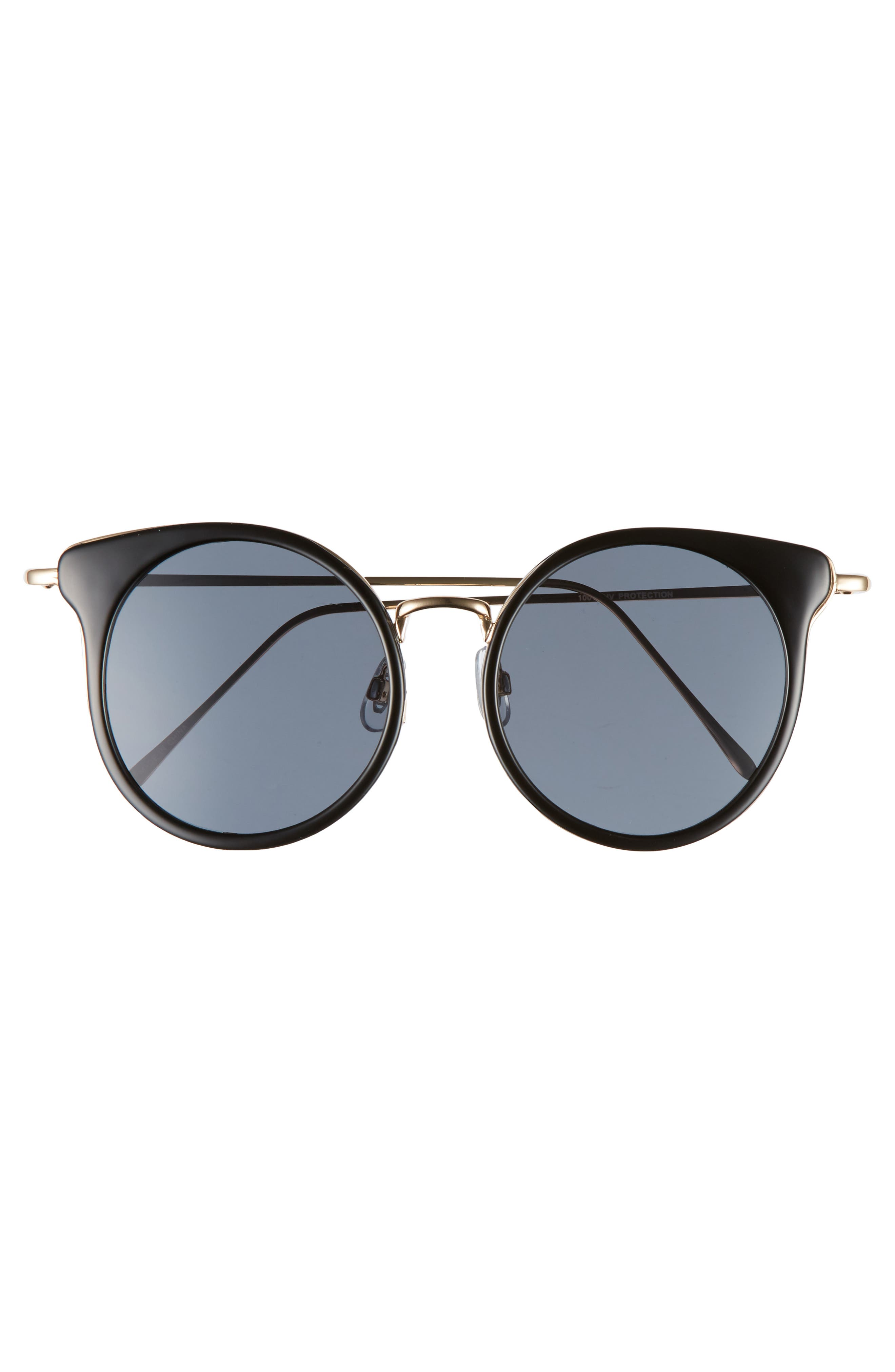 Round Wing Sunglasses,                             Alternate thumbnail 3, color,                             710