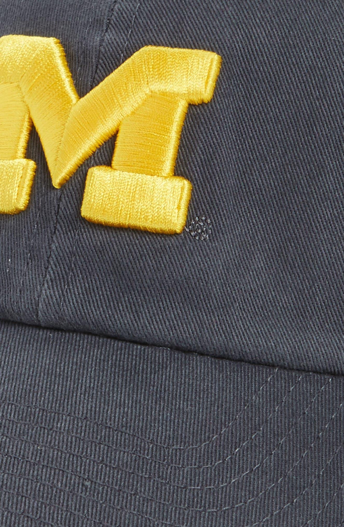 Michigan Wolverines Clean Up Baseball Cap,                             Alternate thumbnail 3, color,                             403